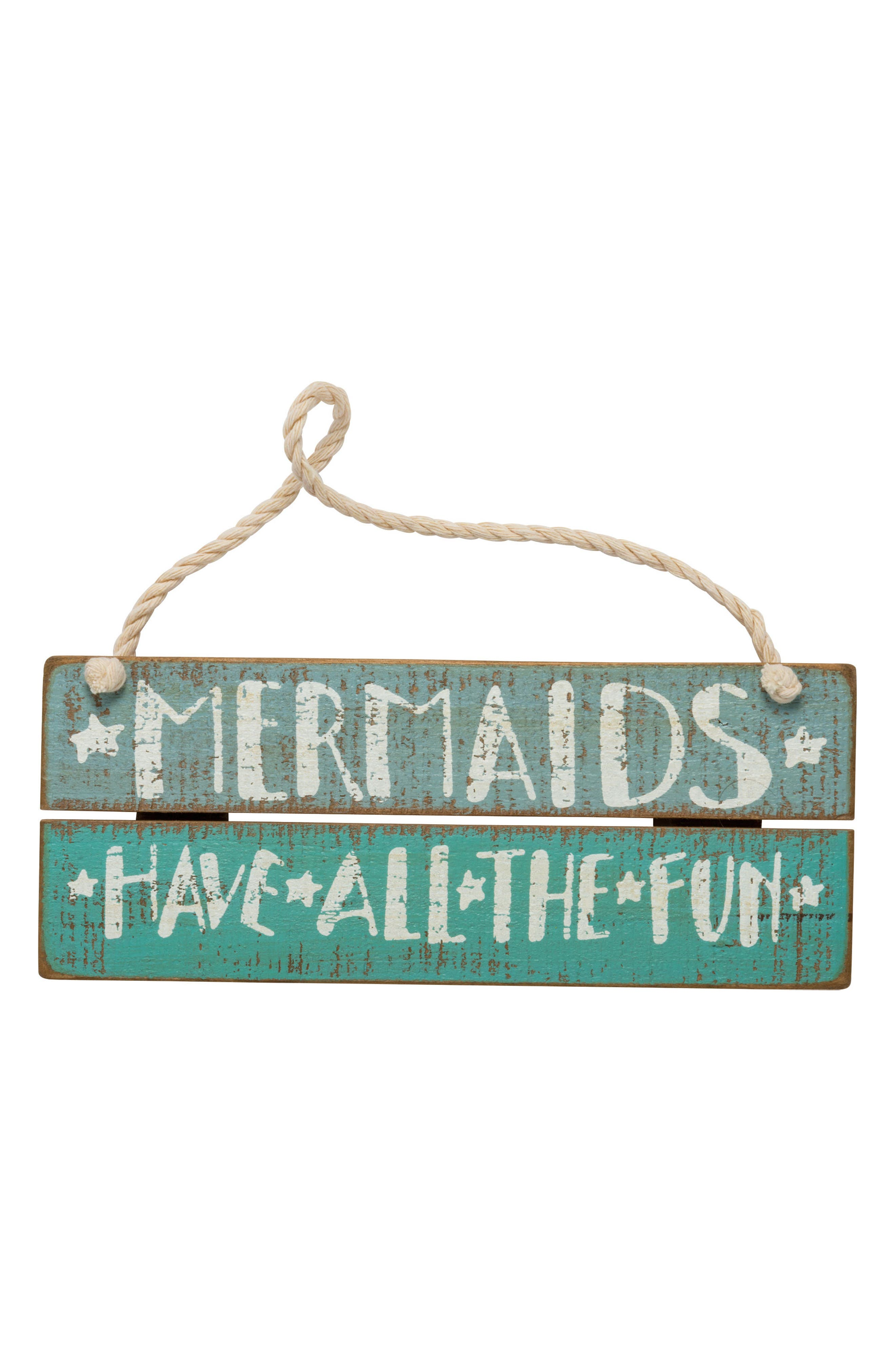 Alternate Image 1 Selected - Primitives by Kathy Mermaids Have All the Fun Wood Box Sign
