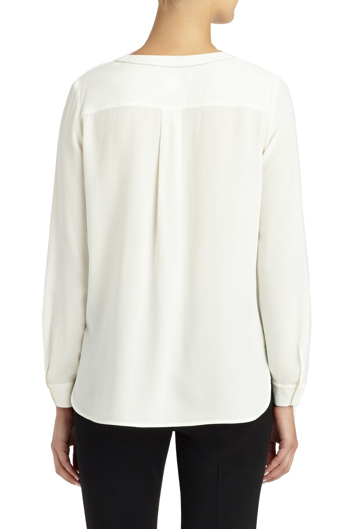 Alternate Image 2  - Lafayette 148 New York Veronica Silk Blouse