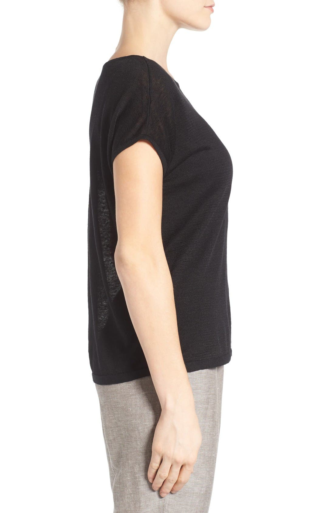 Everyday Tissue Weight Tee,                             Alternate thumbnail 3, color,                             Black Onyx