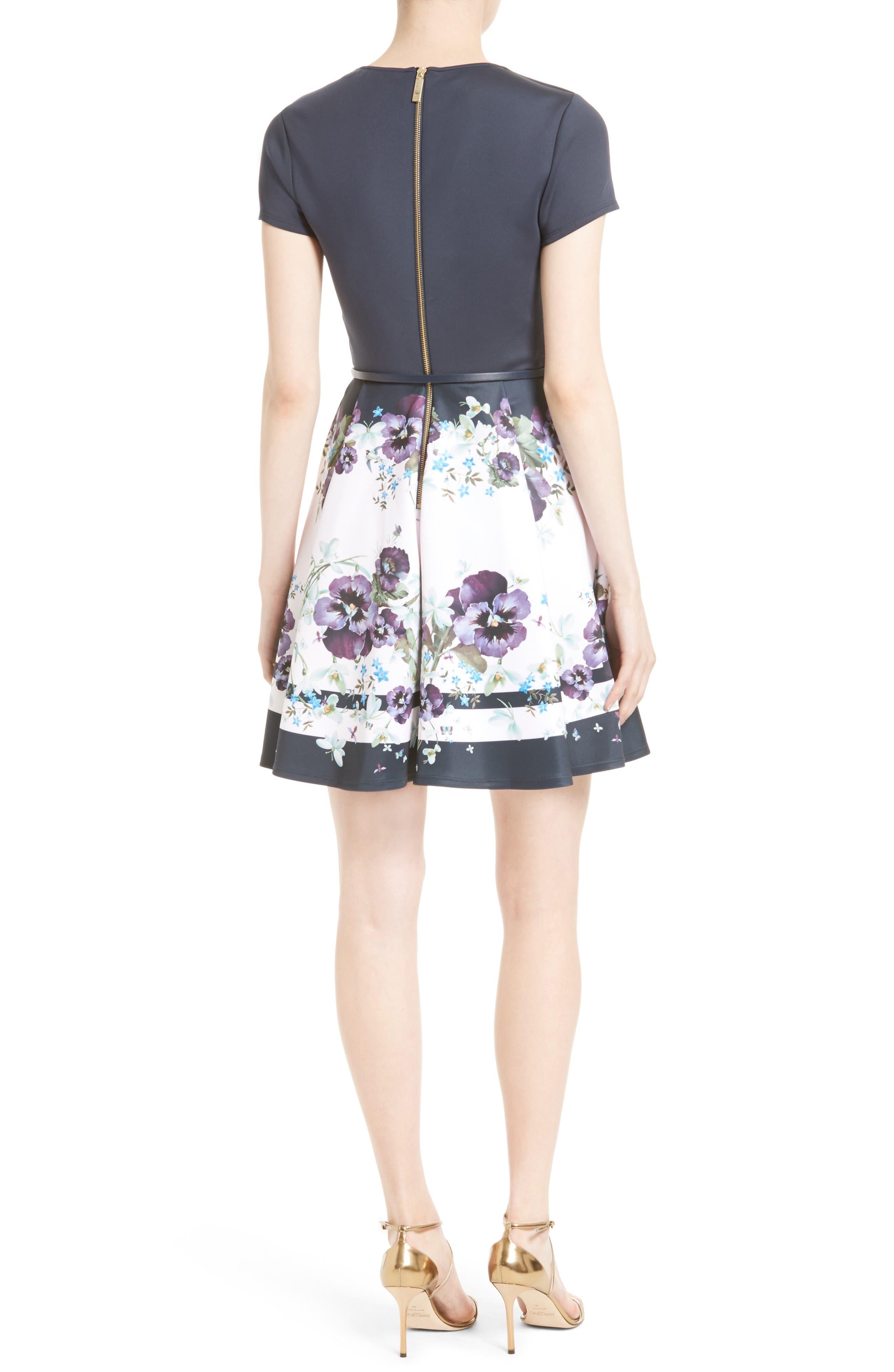 Alternate Image 2  - Ted Baker London Stefh Fit & Flare Dress