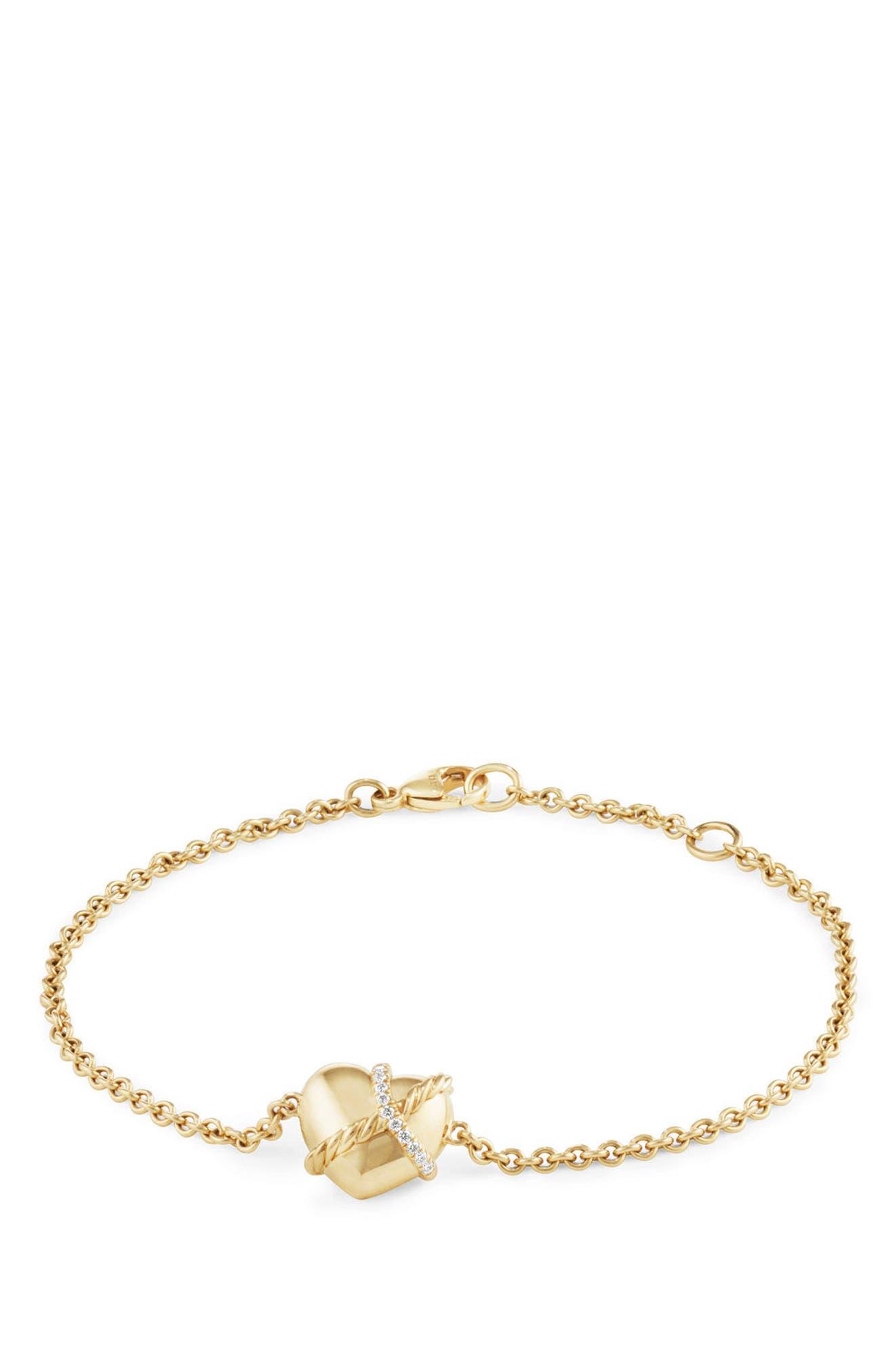 DAVID YURMAN Heart Bracelet in 18K Gold with Diamonds