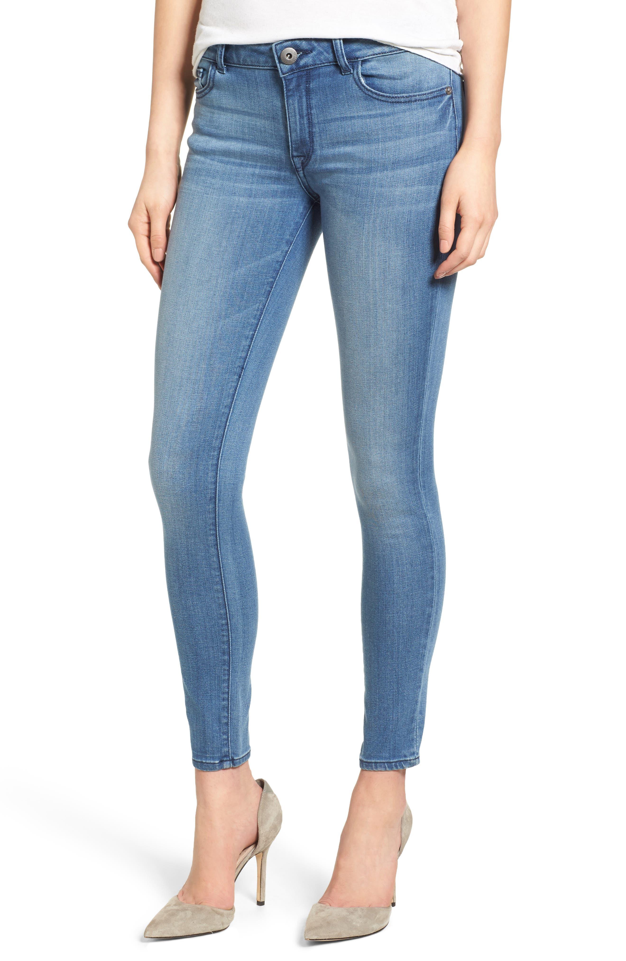 Florence Instasculpt Skinny Jeans,                             Main thumbnail 1, color,                             Godiva