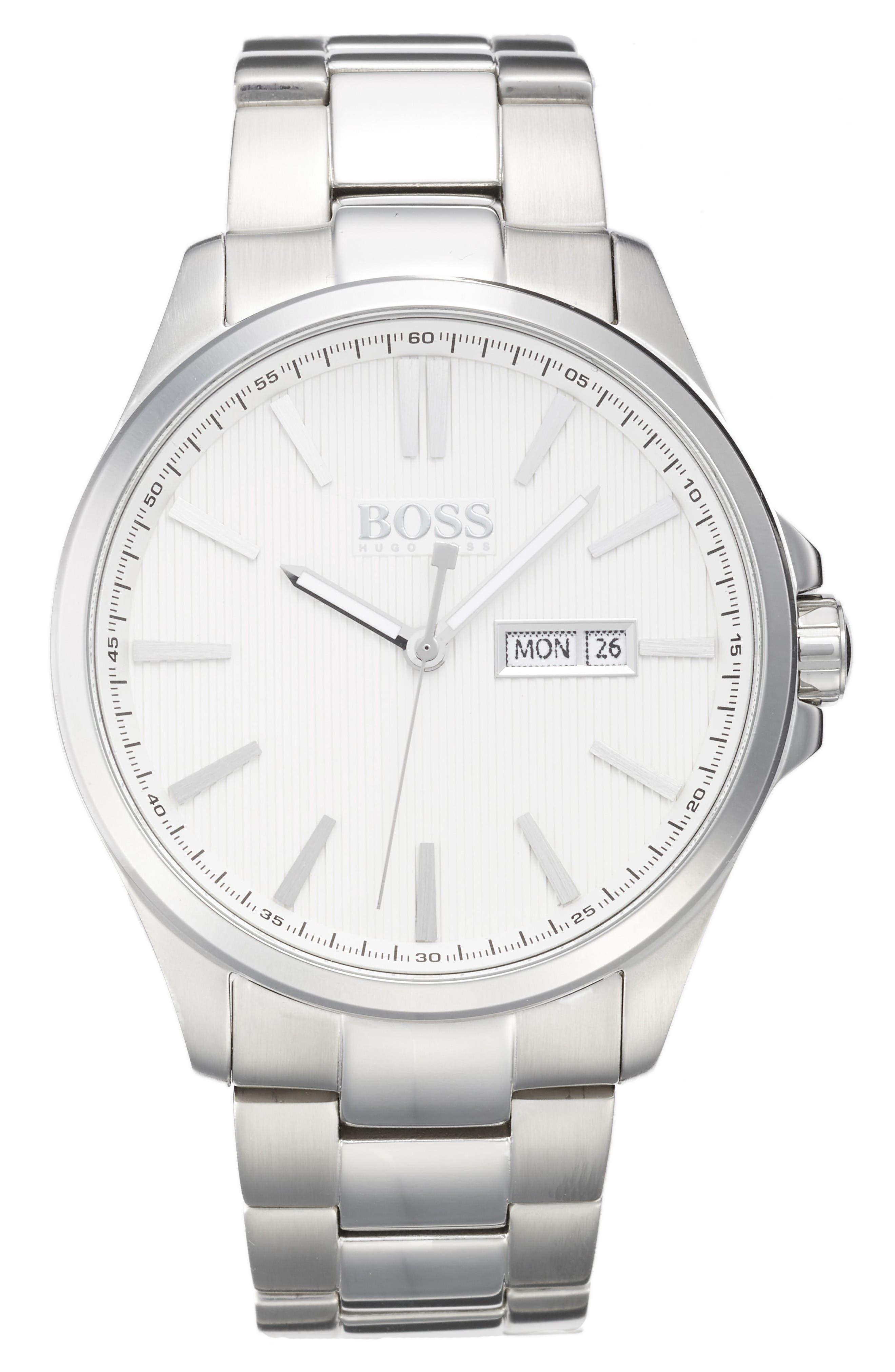 Alternate Image 1 Selected - BOSS The James Bracelet Watch, 42mm