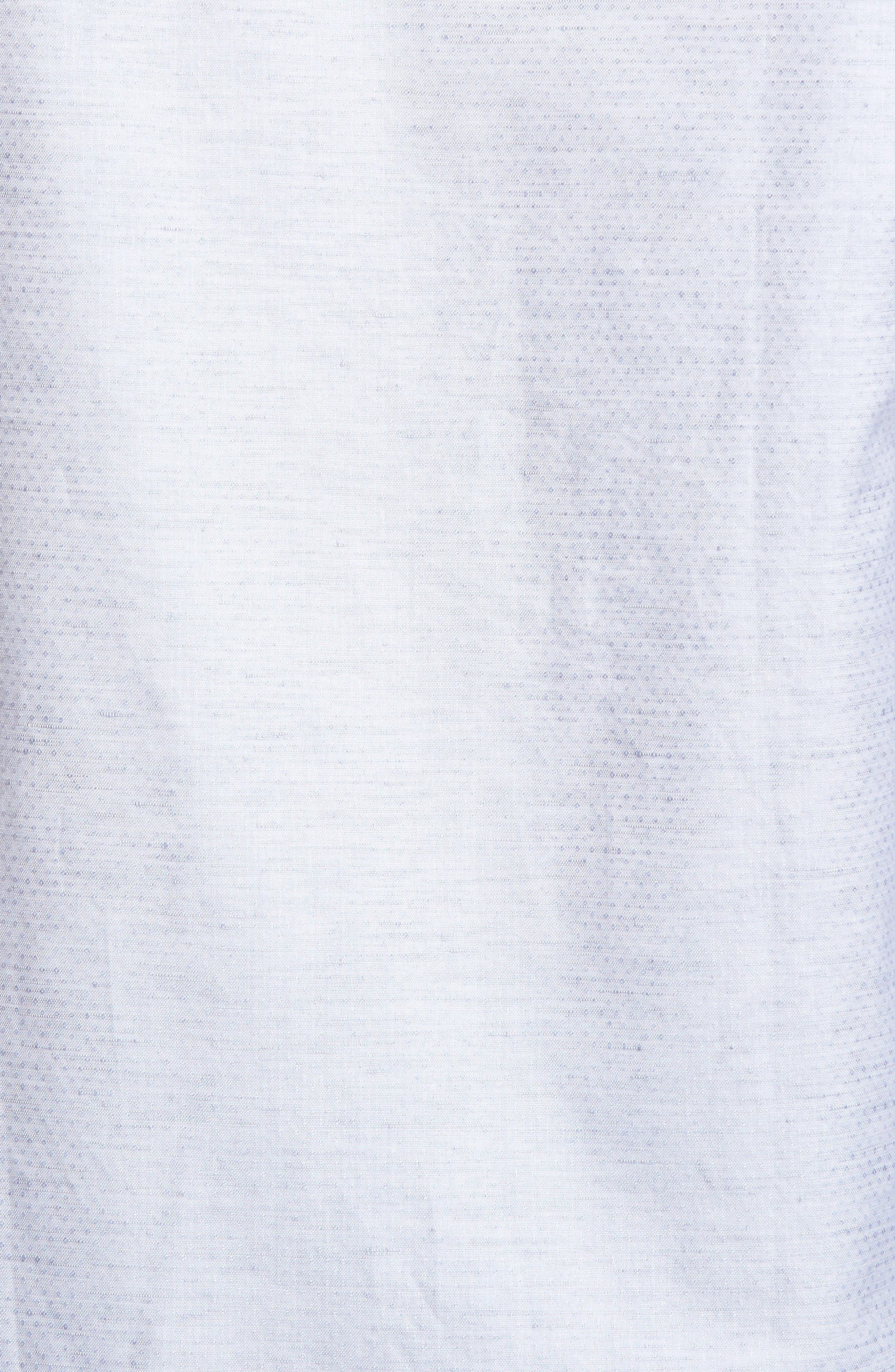 Alternate Image 5  - Stone Rose Dobby Cotton & Linen Sport Shirt