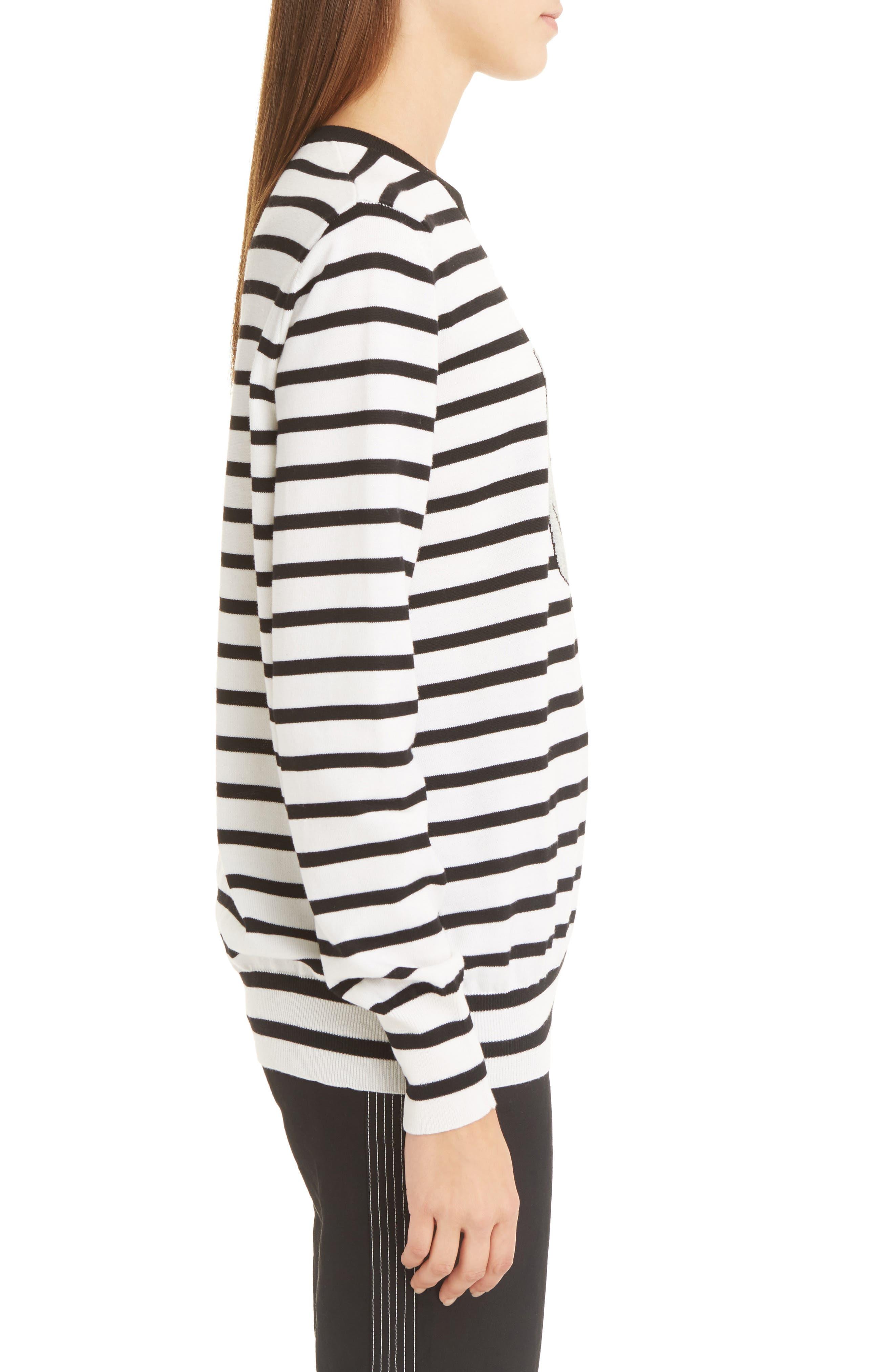 Alternate Image 4  - Loewe Cat Stripe Wool Blend Sweater