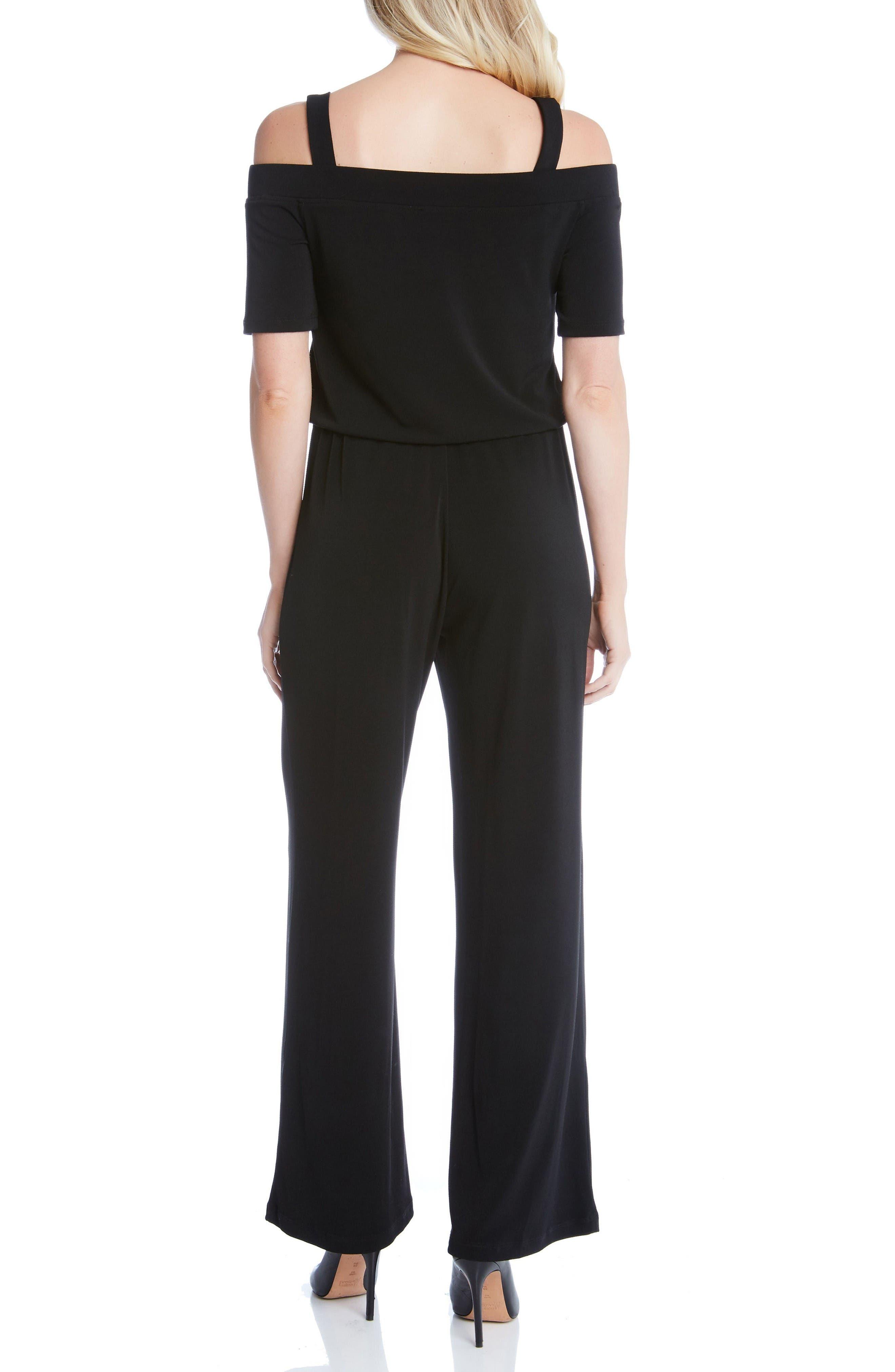 Alternate Image 2  - Karen Kane Convertible Off the Shoulder Jumpsuit