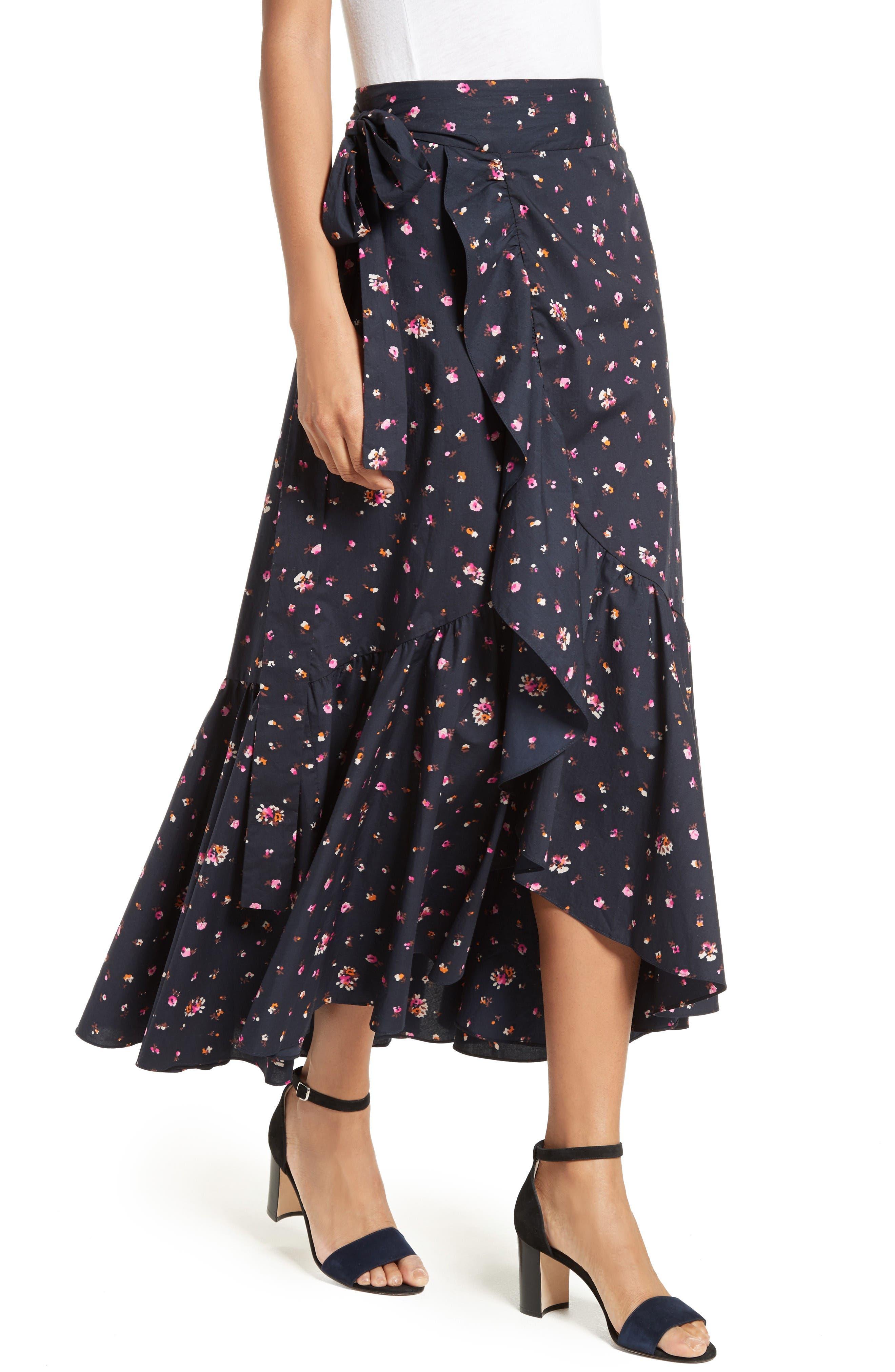 Alternate Image 4  - Rebecca Taylor Mia Print Poplin Wrap Skirt