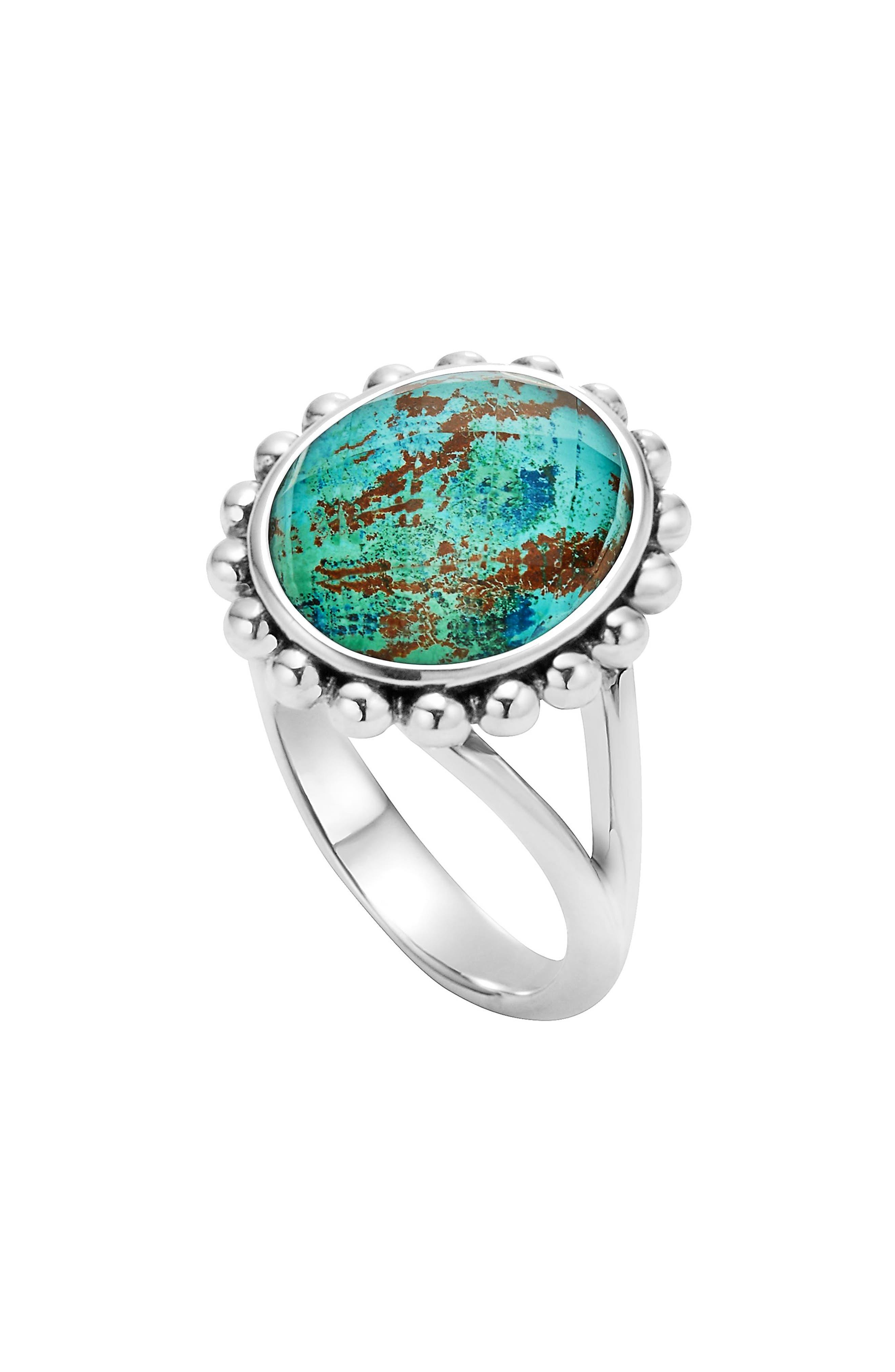 'Maya' Small Doublet Ring,                         Main,                         color, Chrysocolla