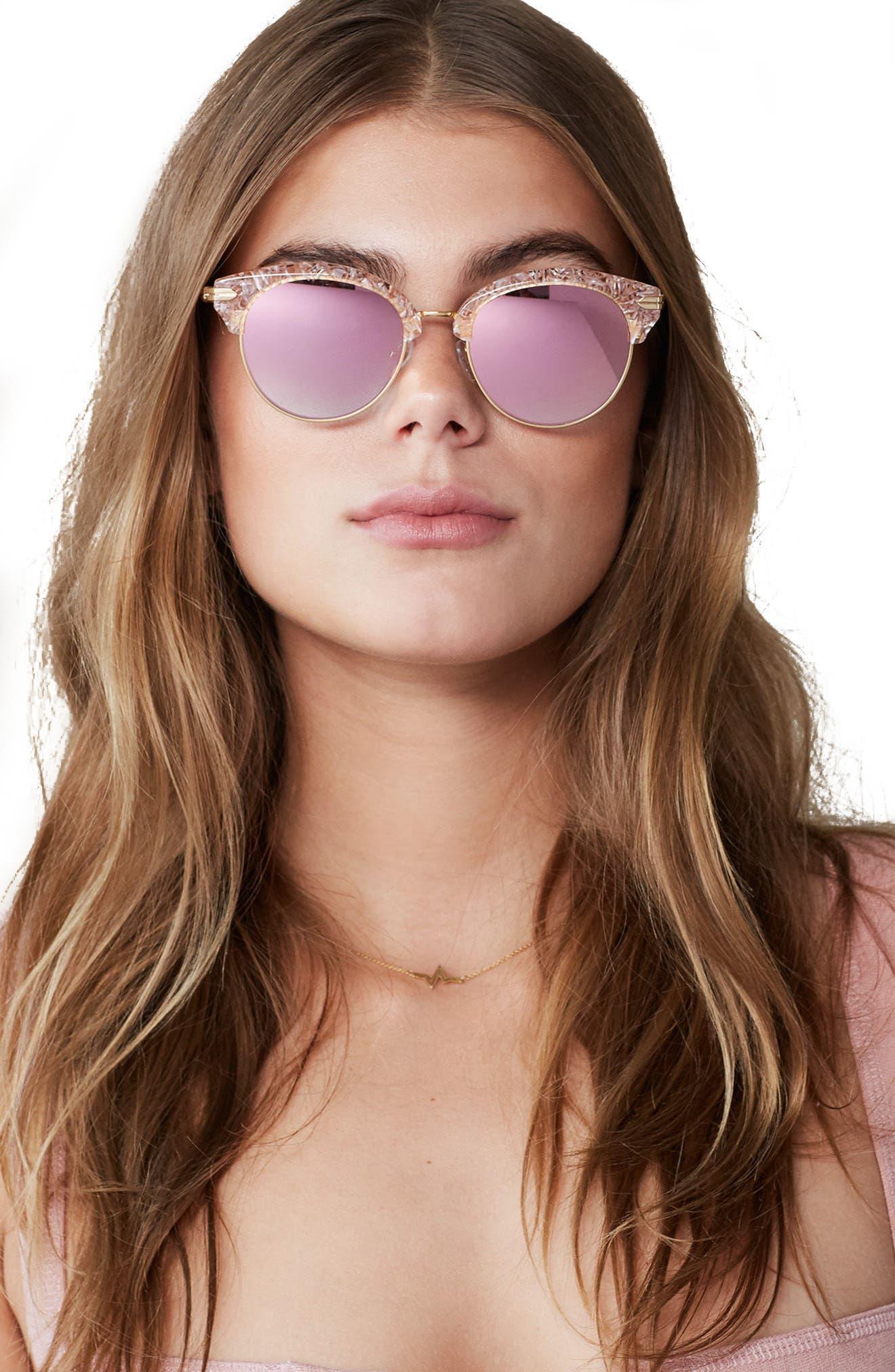 Alternate Image 2  - Sonix Bellevue 50mm Mirrored Sunglasses