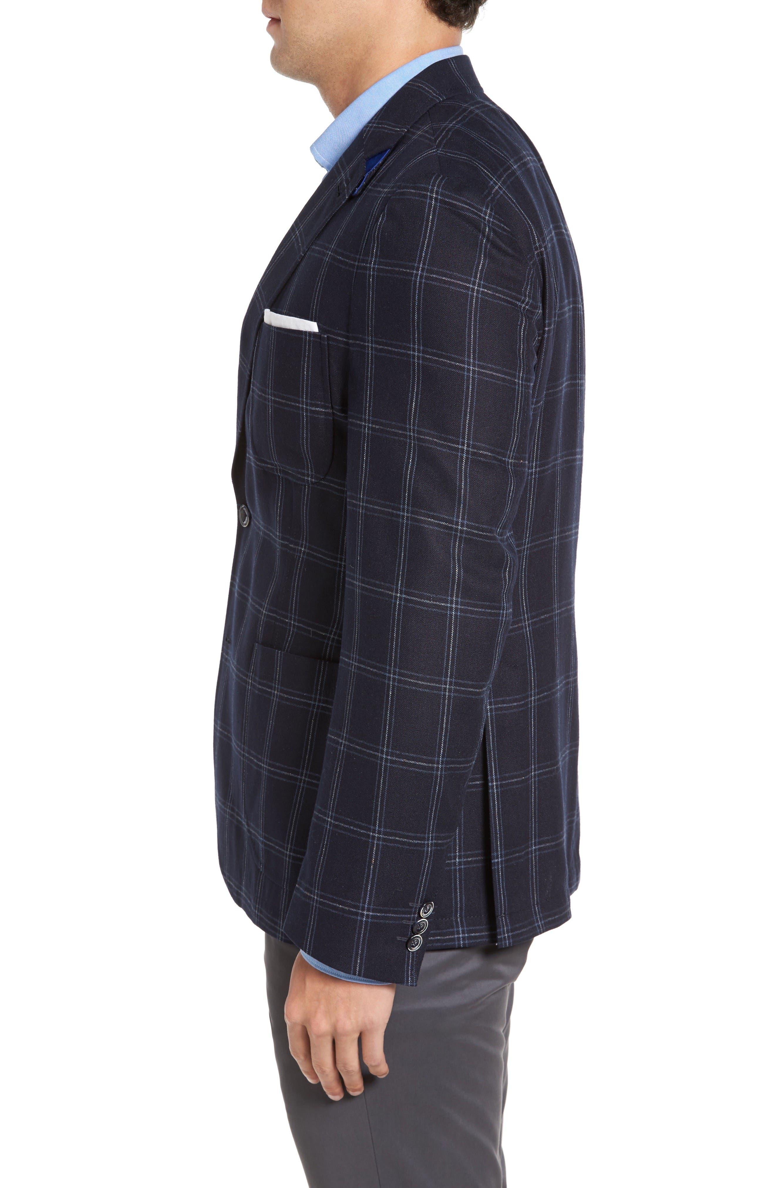 Alternate Image 3  - Kroon White Classic Fit Check Silk Sport Coat