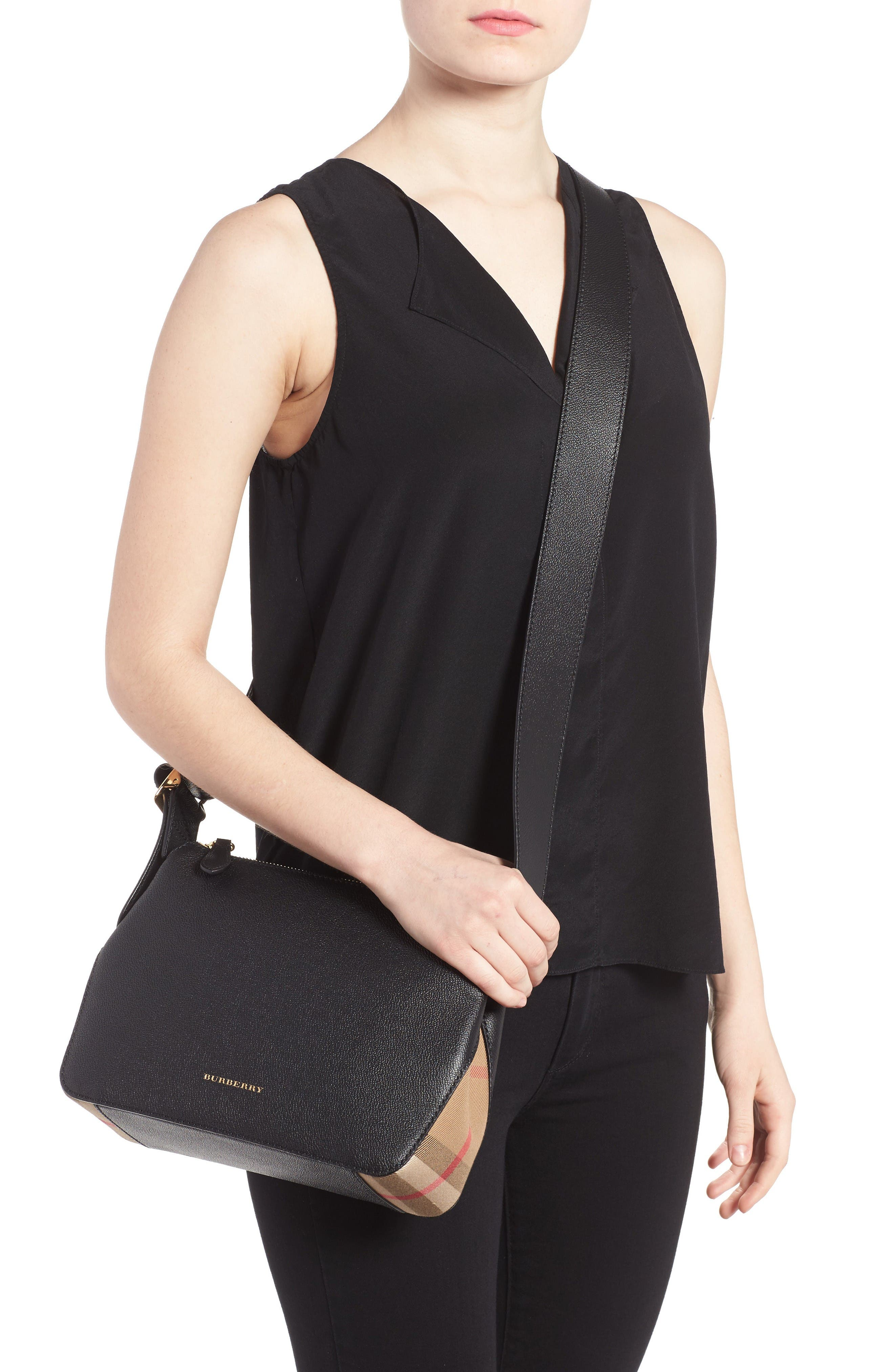 Alternate Image 2  - Burberry Helmsley House Check Leather Crossbody Bag