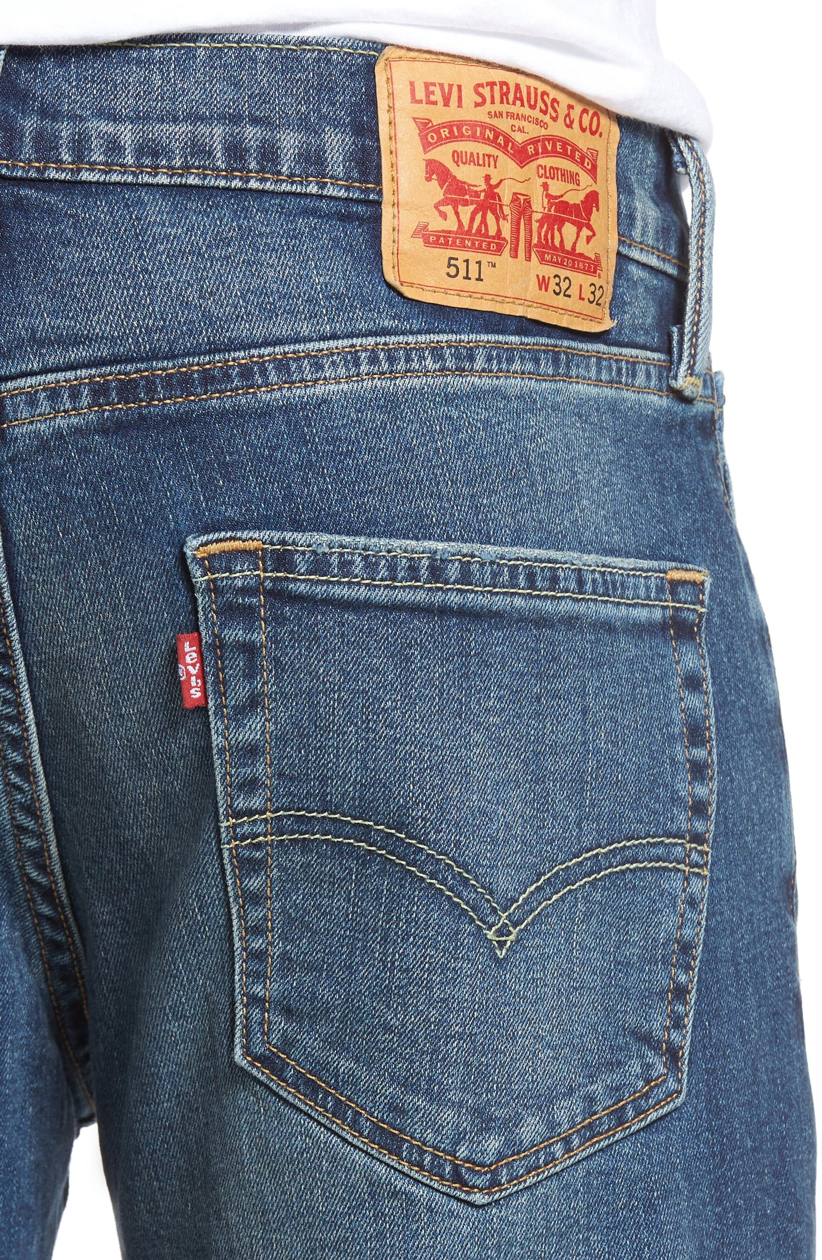 Alternate Image 4  - Levi's® 511™ Slim Fit Jeans (Emgee)