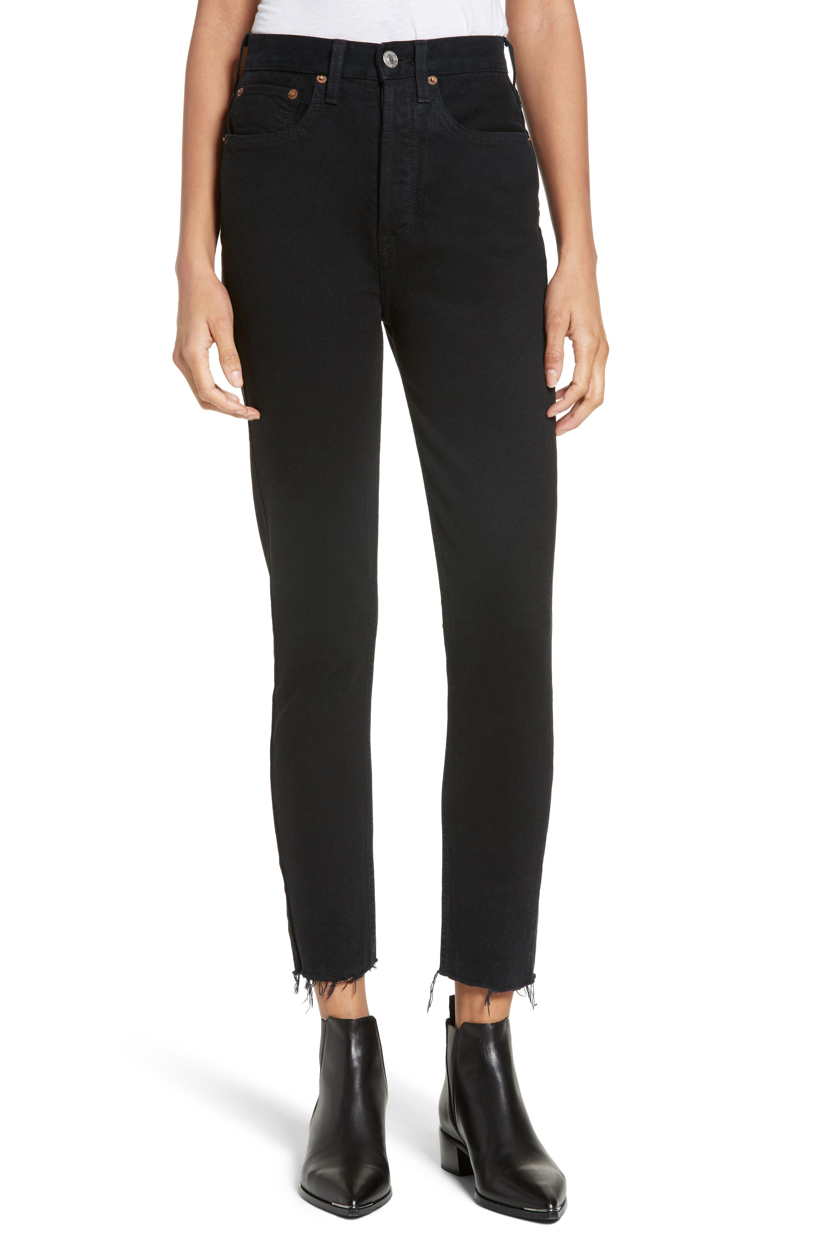 Alternate Image 1 Selected - Re/Done High Waist Crop Jeans