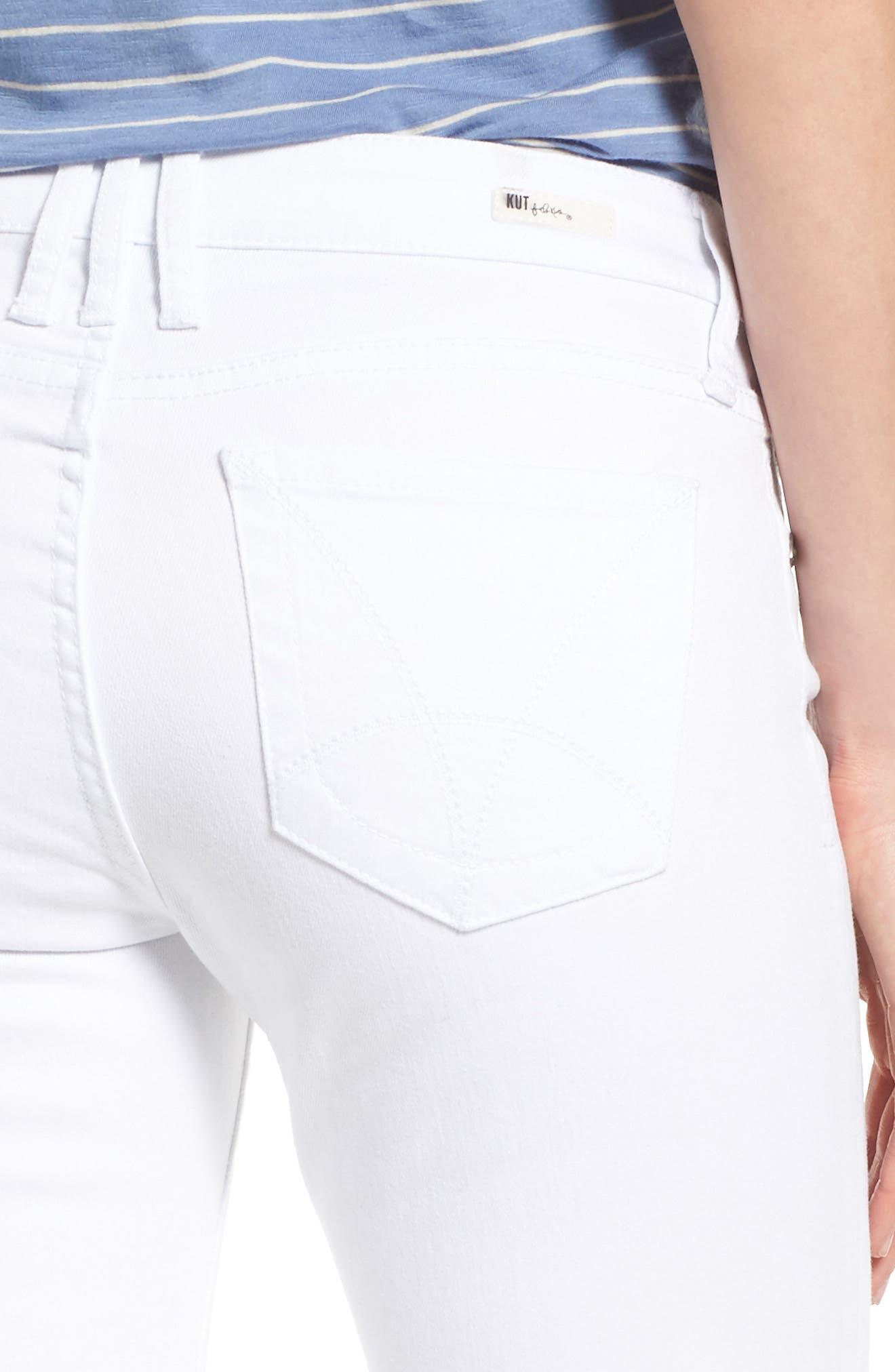 Catherine Stretch Boyfriend Jeans,                             Alternate thumbnail 5, color,                             White