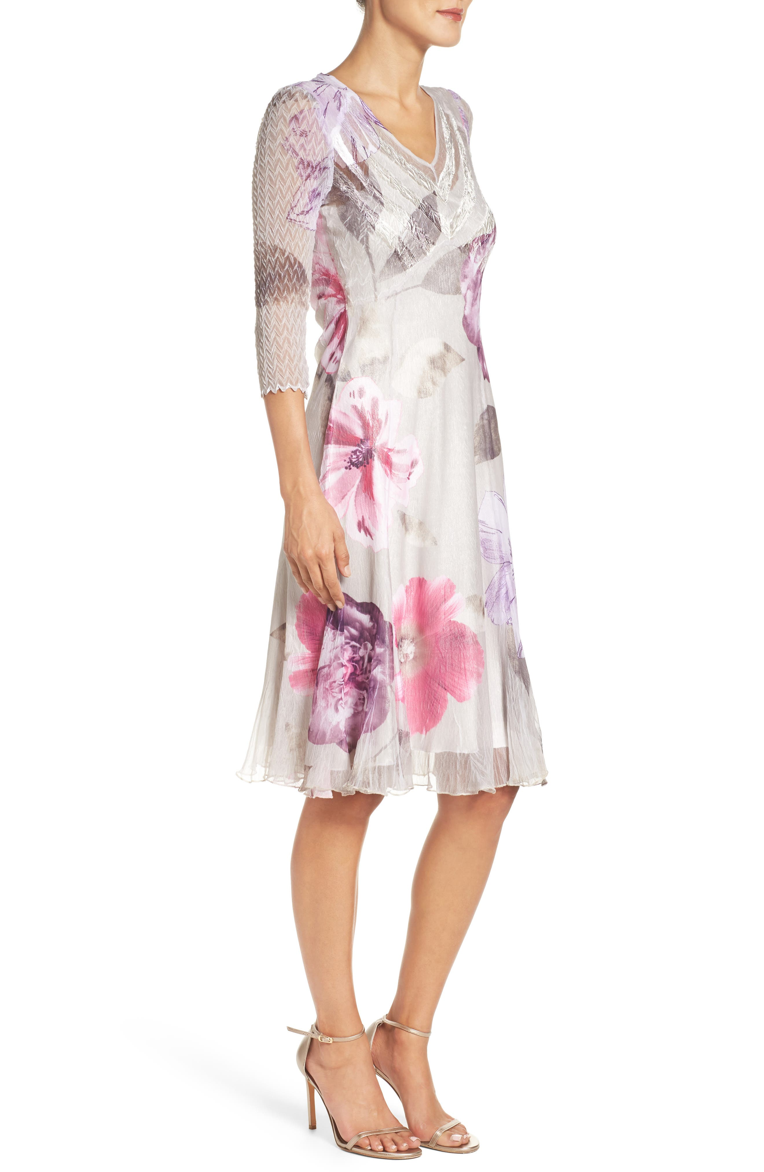 Chiffon A-Line Dress,                             Alternate thumbnail 3, color,                             Ambrosia