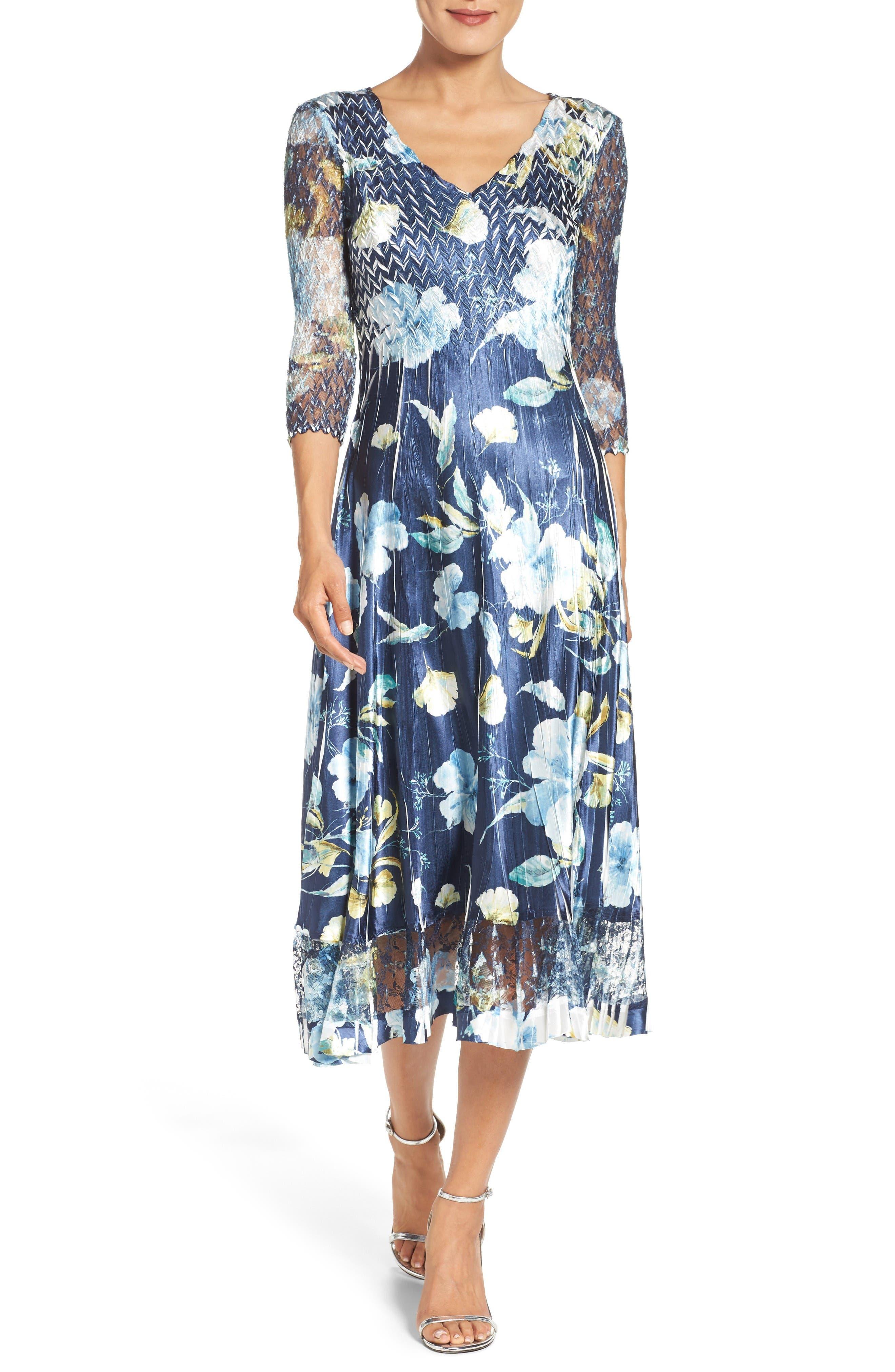 A-Line Dress,                         Main,                         color, Sapphire