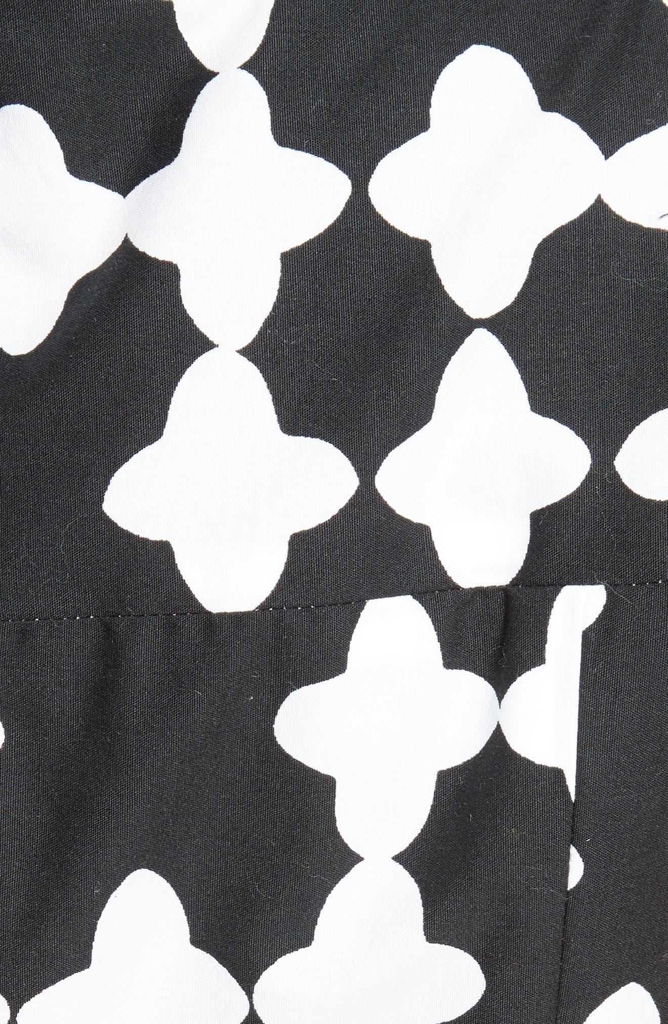 Alternate Image 5  - kate spade new york lantern print scoop neck dress