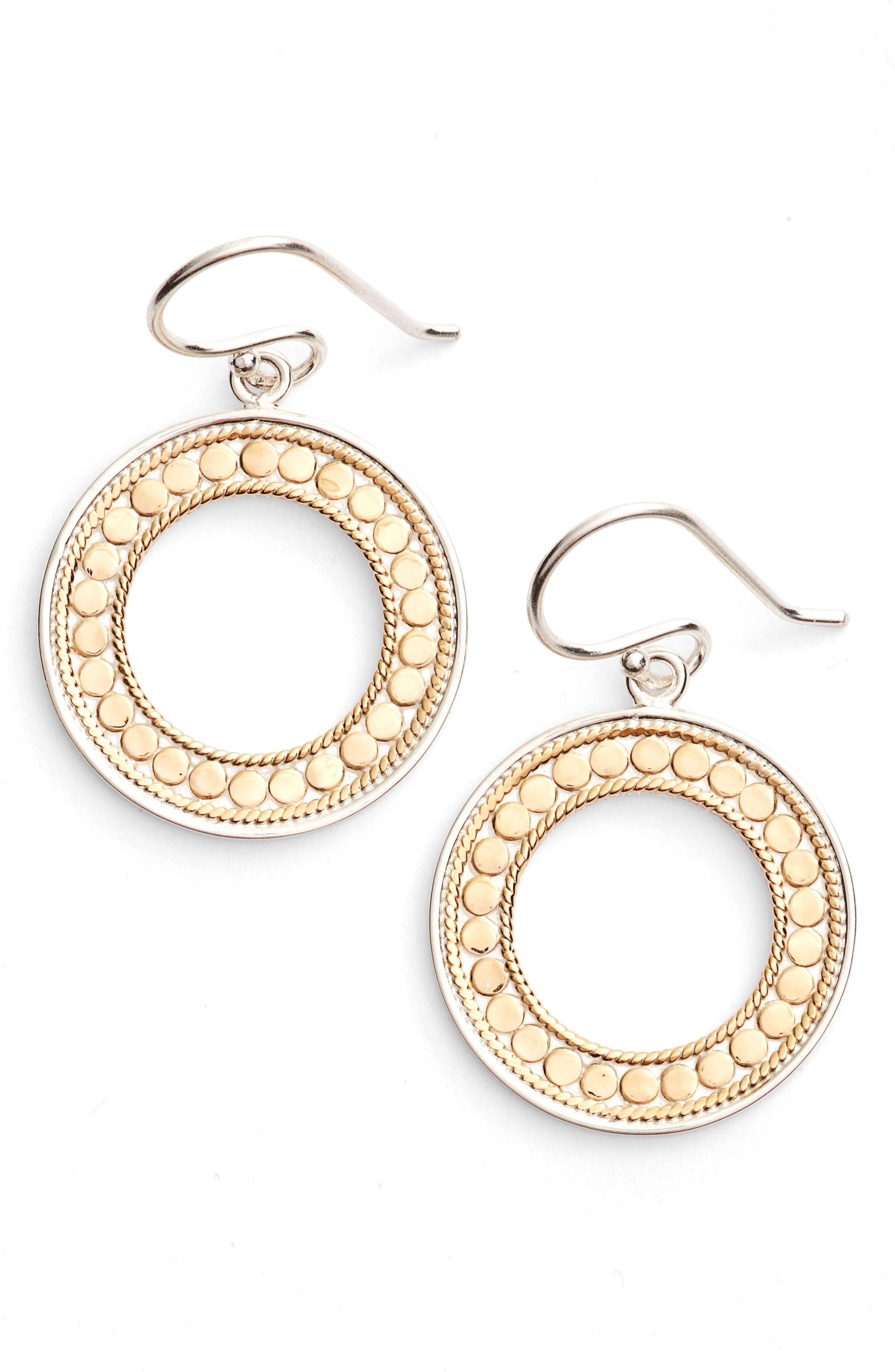 Open Circle Drop Earrings,                         Main,                         color, Gold