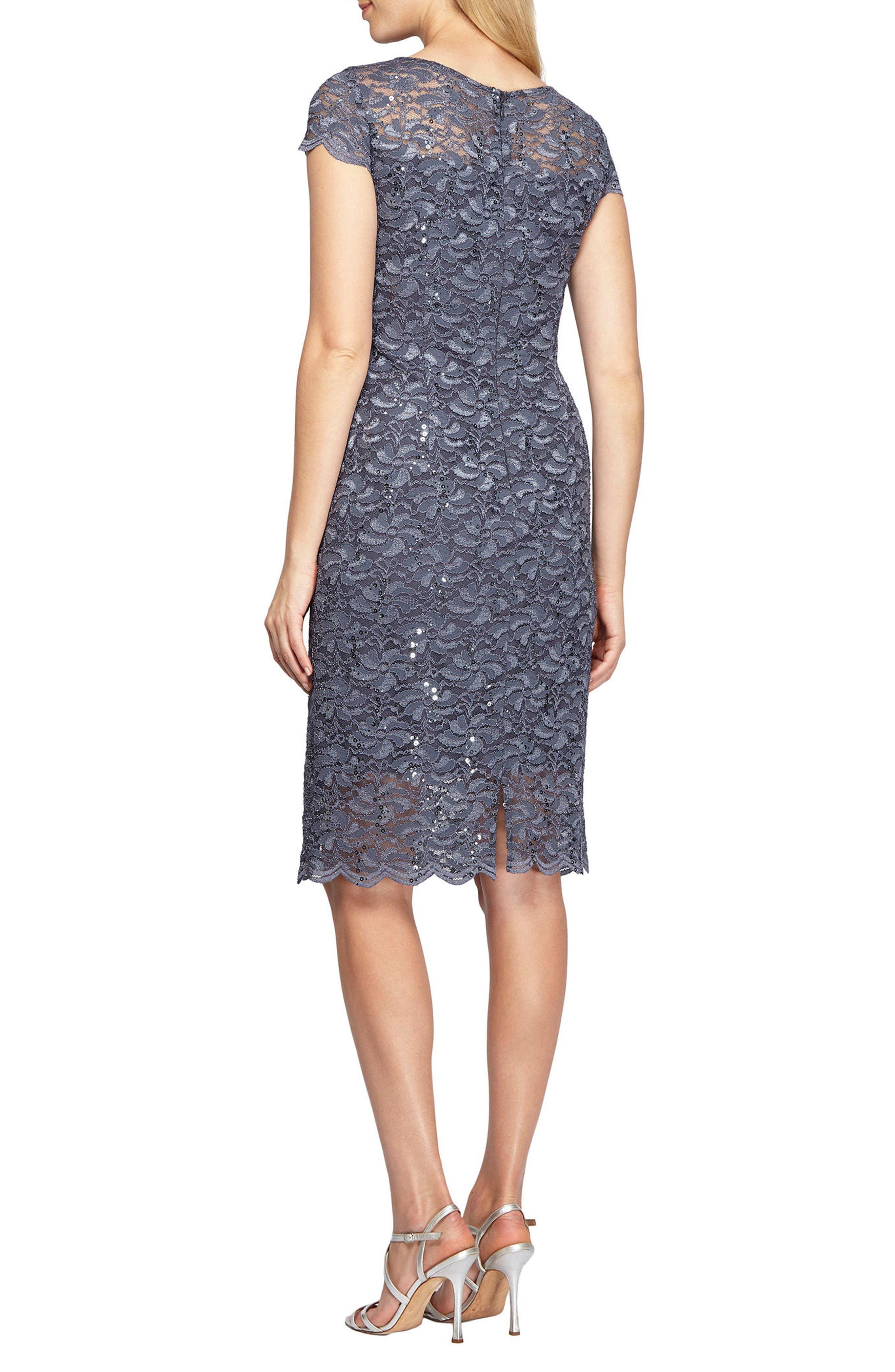 Alternate Image 2  - Alex Evenings Lace Sheath Dress (Regular & Petite)