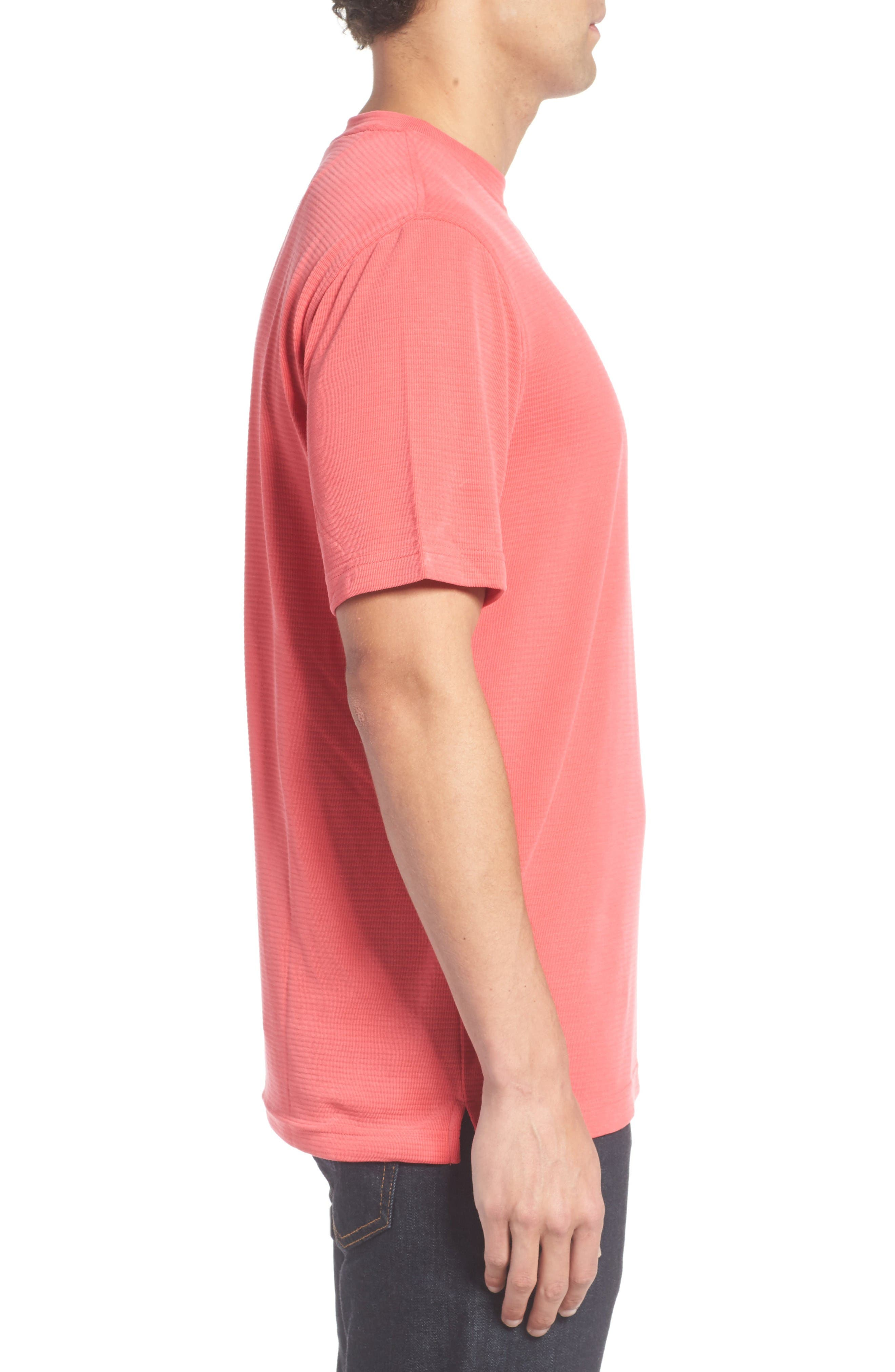 Crewneck T-Shirt,                             Alternate thumbnail 3, color,                             Cherry