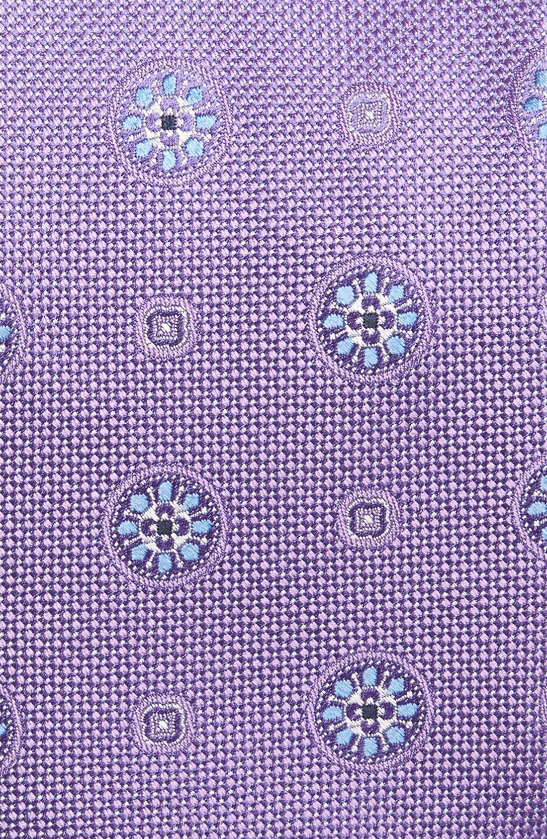 Medallion Silk Tie,                             Alternate thumbnail 2, color,                             Lilac