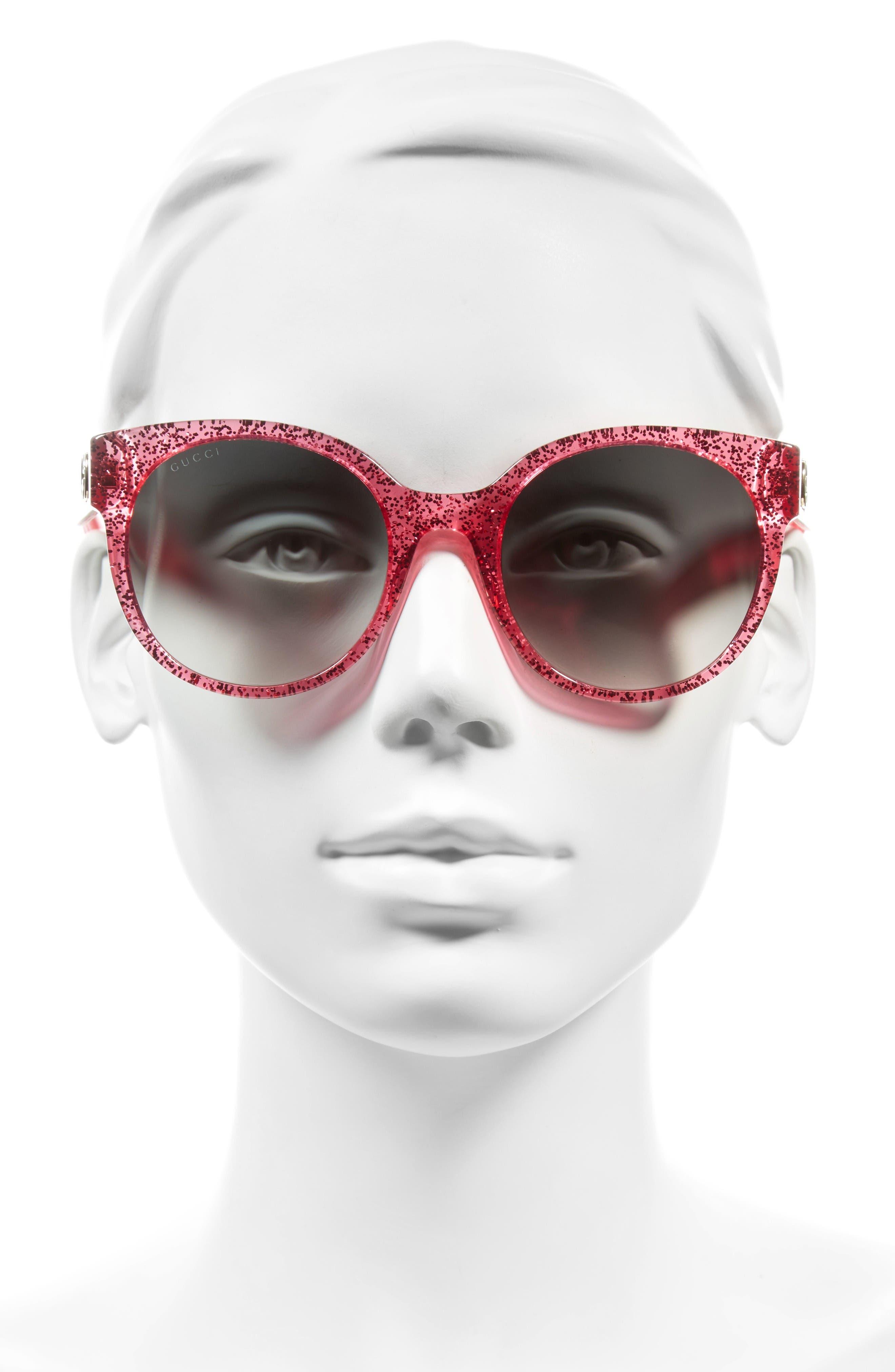 Alternate Image 2  - Gucci 54mm Glitter Sunglasses