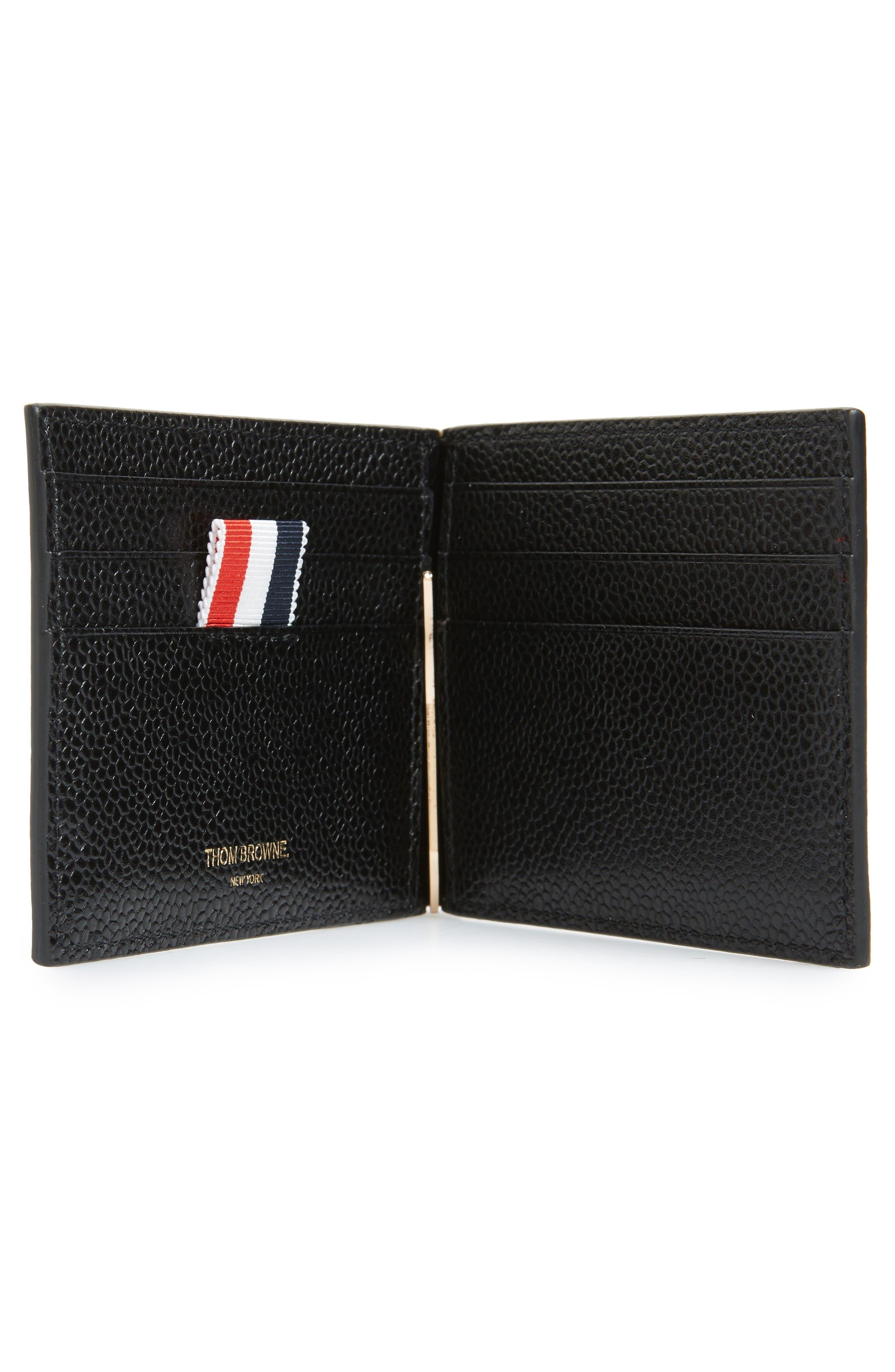 Alternate Image 2  - Thom Browne Diagonal Stripe Leather Card Holder