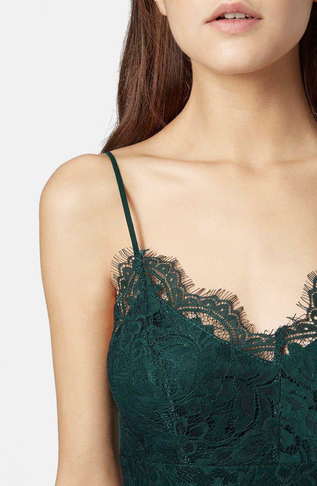 Alternate Image 3  - Topshop Lace Body-Con Slipdress (Regular & Petite)