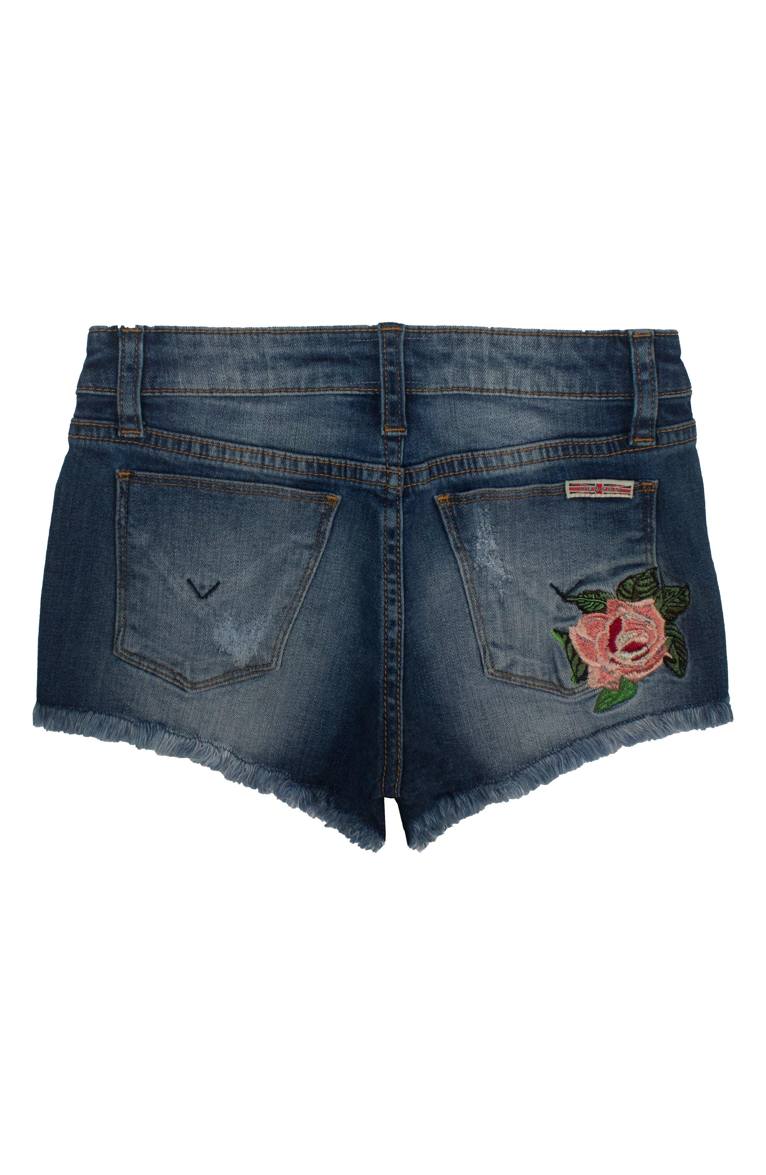 Alternate Image 2  - Hudson Kids Superpower Denim Shorts (Big Girls)
