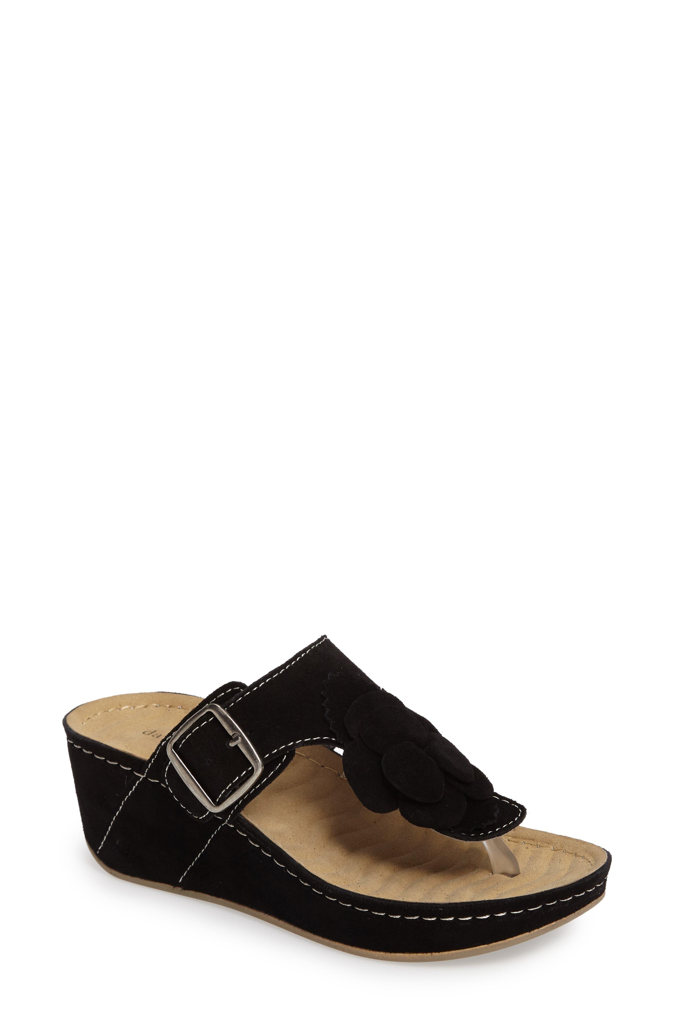Main Image - David Tate Spring Platform Wedge Sandal (Women)