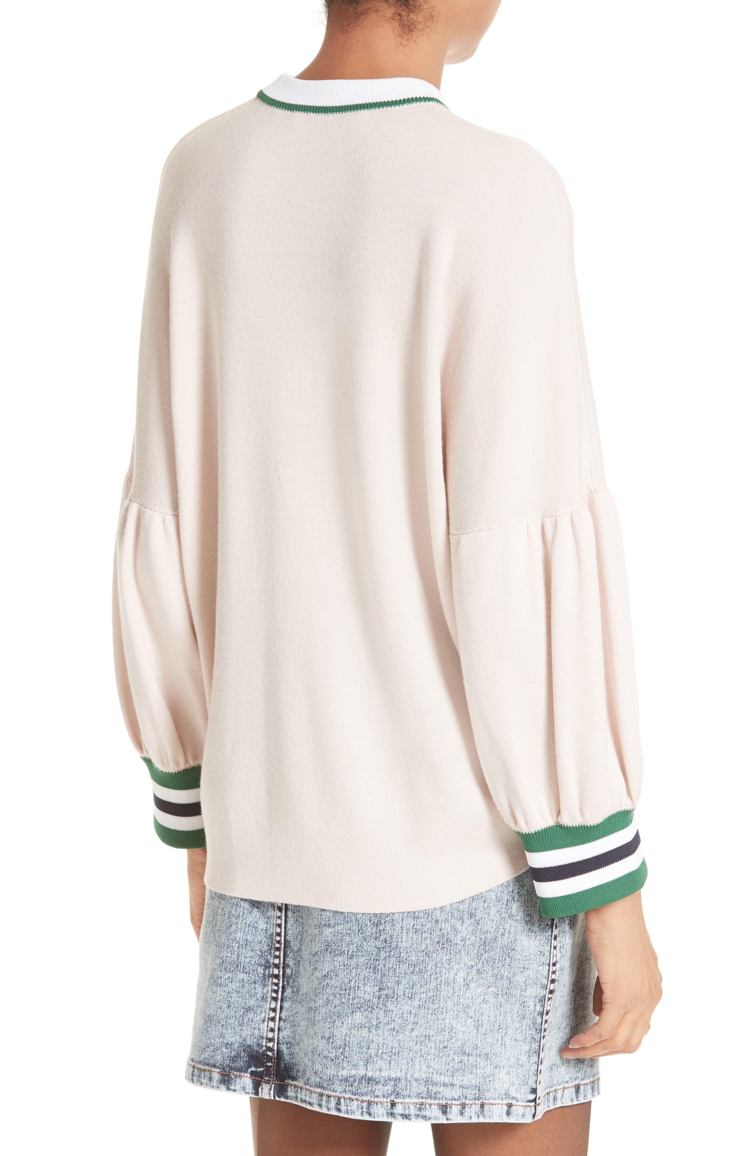 Alternate Image 3  - Tibi Wool Puff Sleeve Pullover