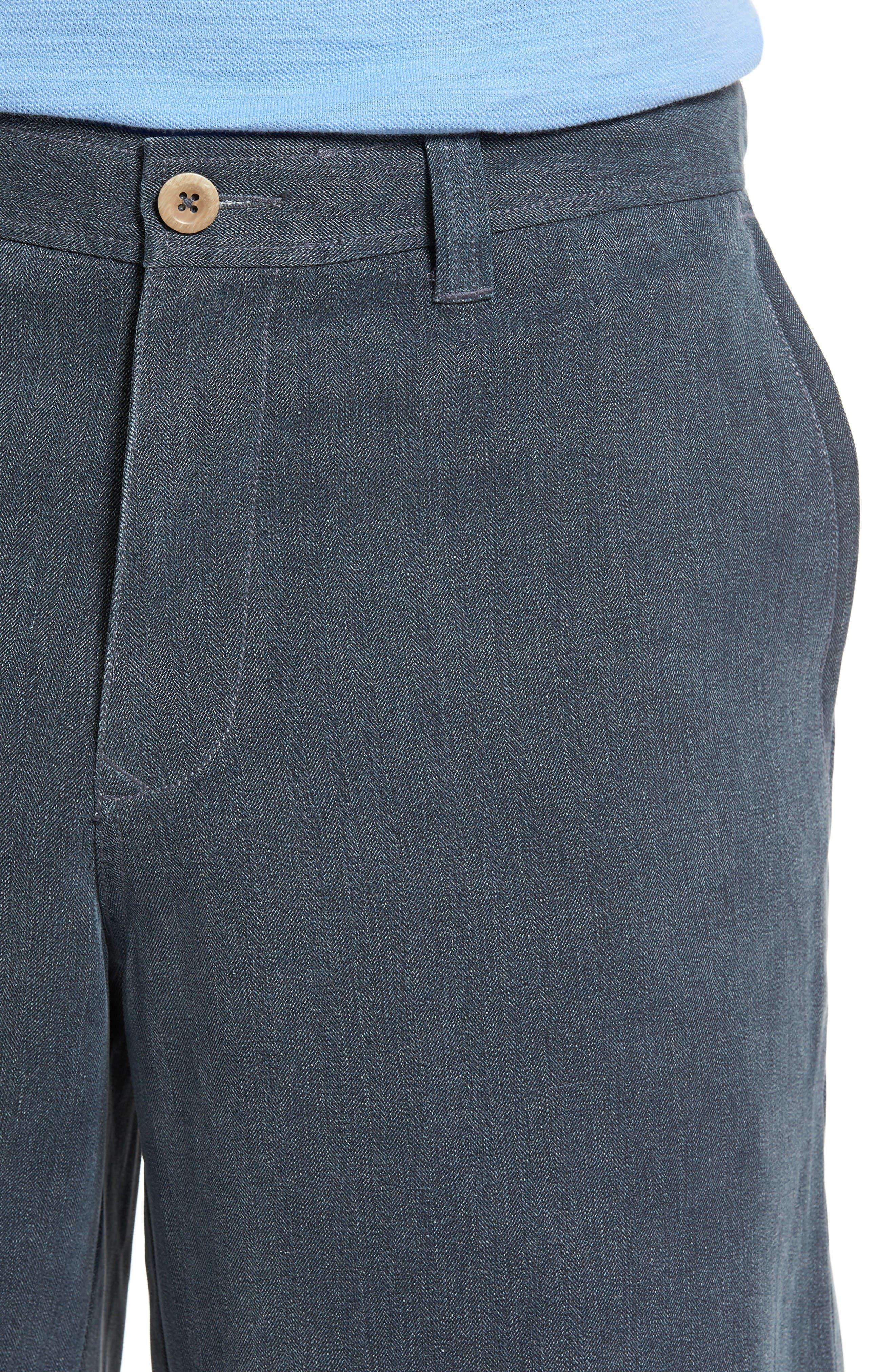 Alternate Image 4  - Tommy Bahama Havana Herringbone Silk Blend Chino Shorts