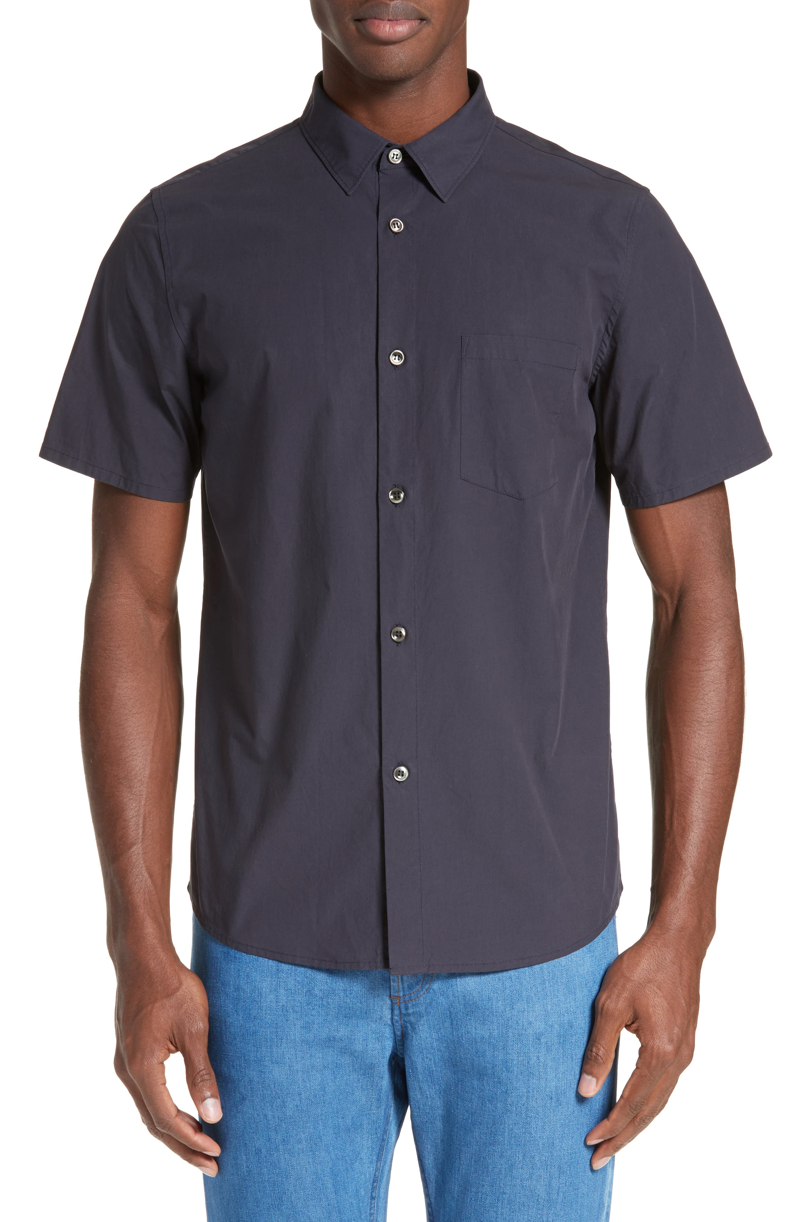 Andreas Extra Trim Fit Sport Shirt,                         Main,                         color, Dark Navy