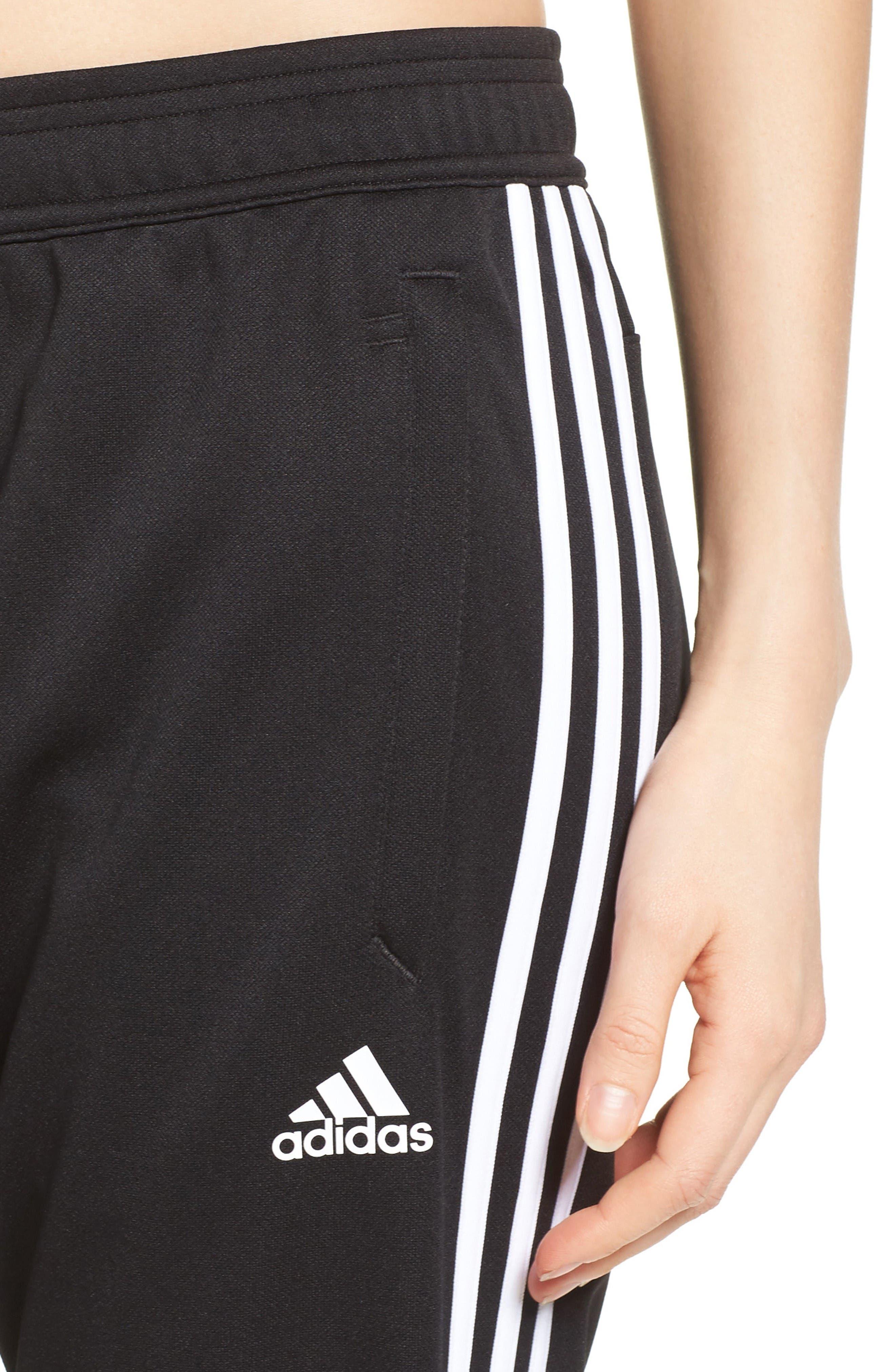 Tiro 17 Training Pants,                             Alternate thumbnail 4, color,                             Black/ White/ White