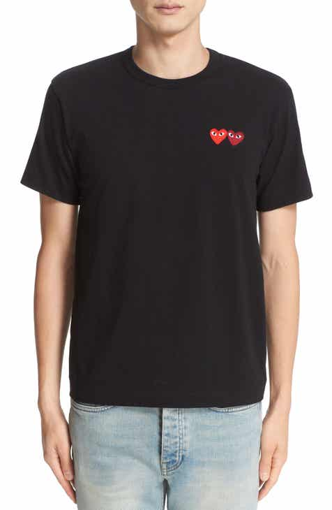 44f35cd43d1dcb Comme des Garçons PLAY Twin Hearts Slim Fit Jersey T-Shirt