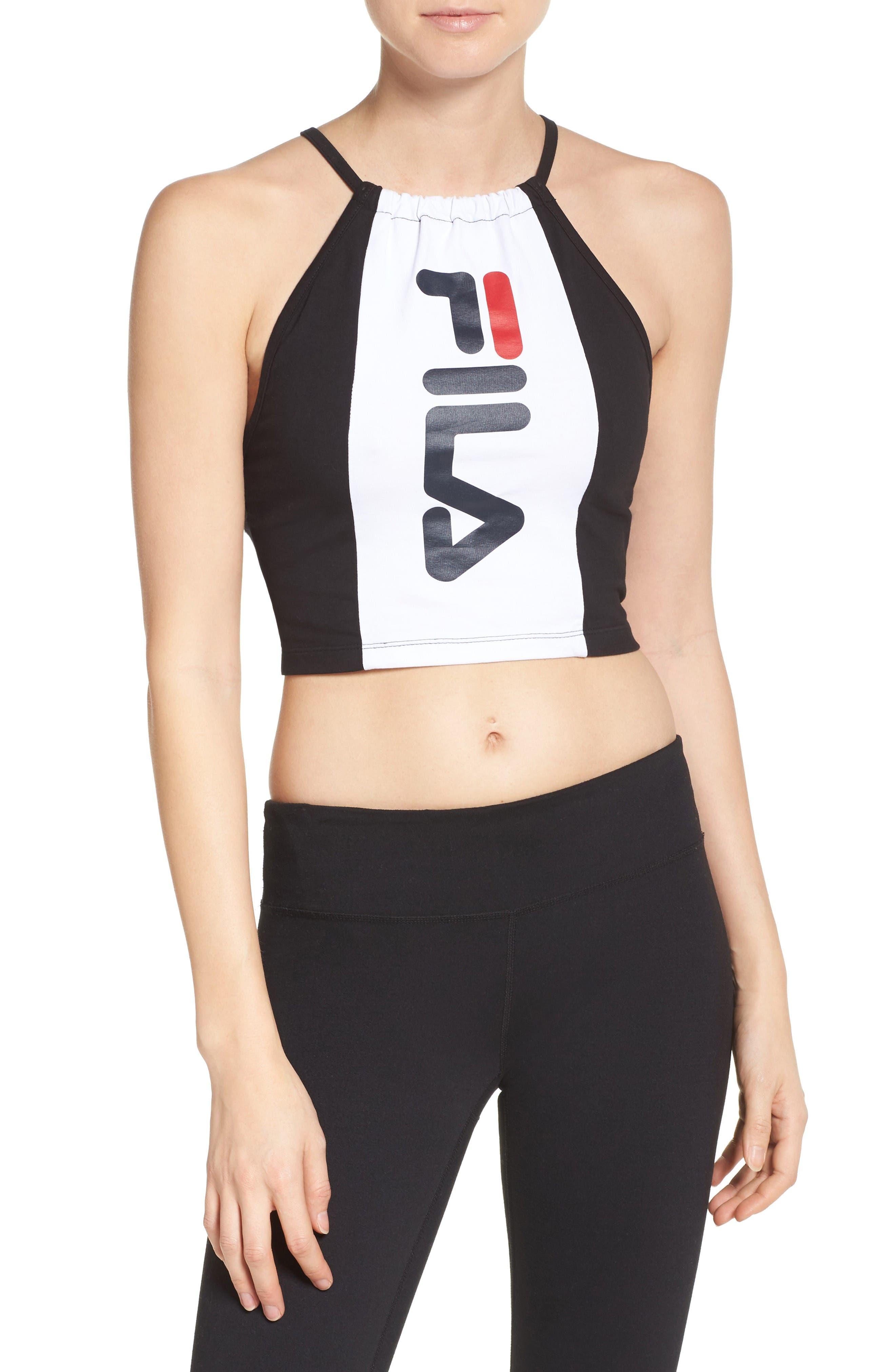 Pipa Crop Top,                         Main,                         color, White/ Black