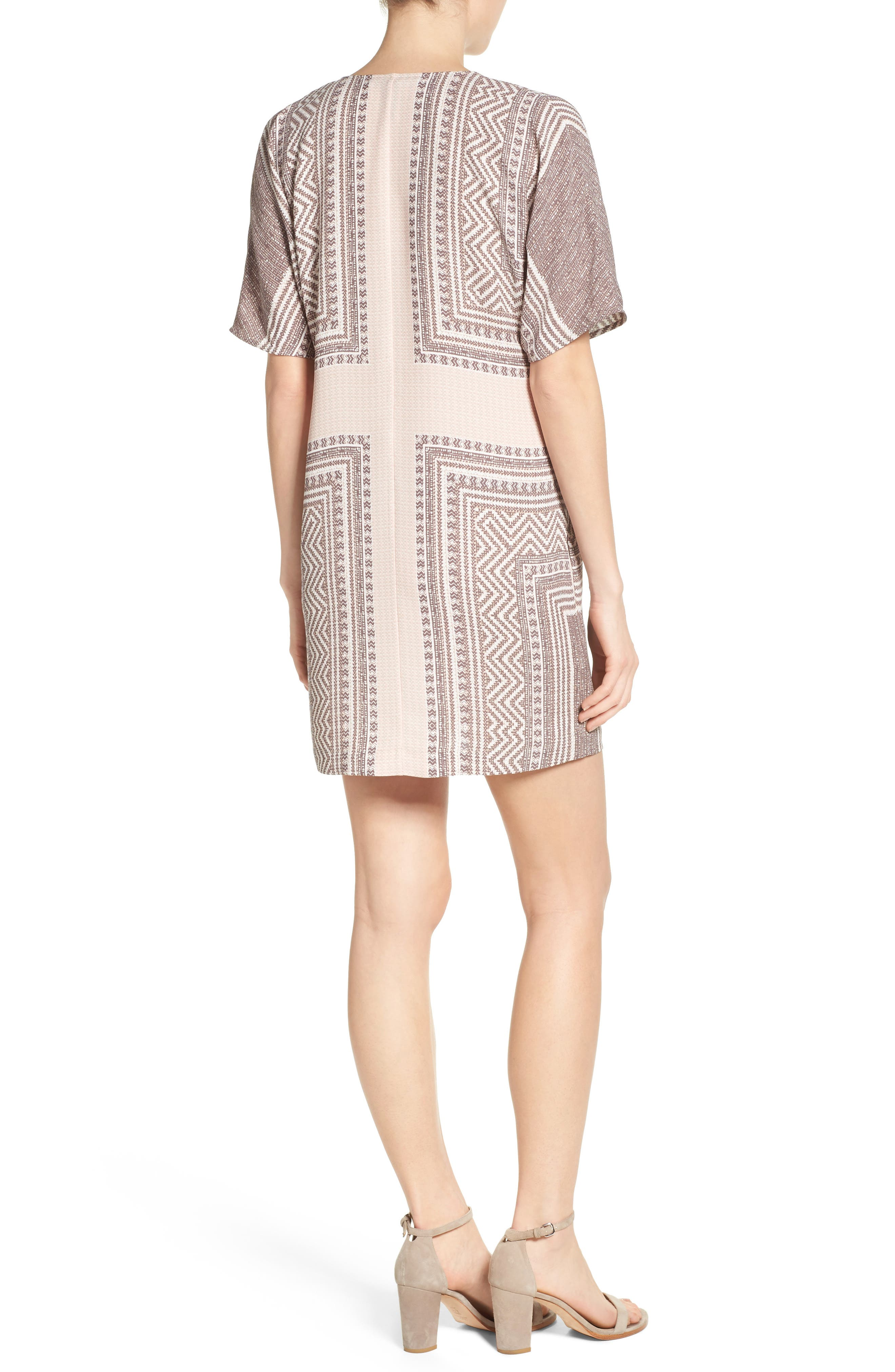 Alternate Image 2  - BCBGMAXAZRIA Scarf Print Dress