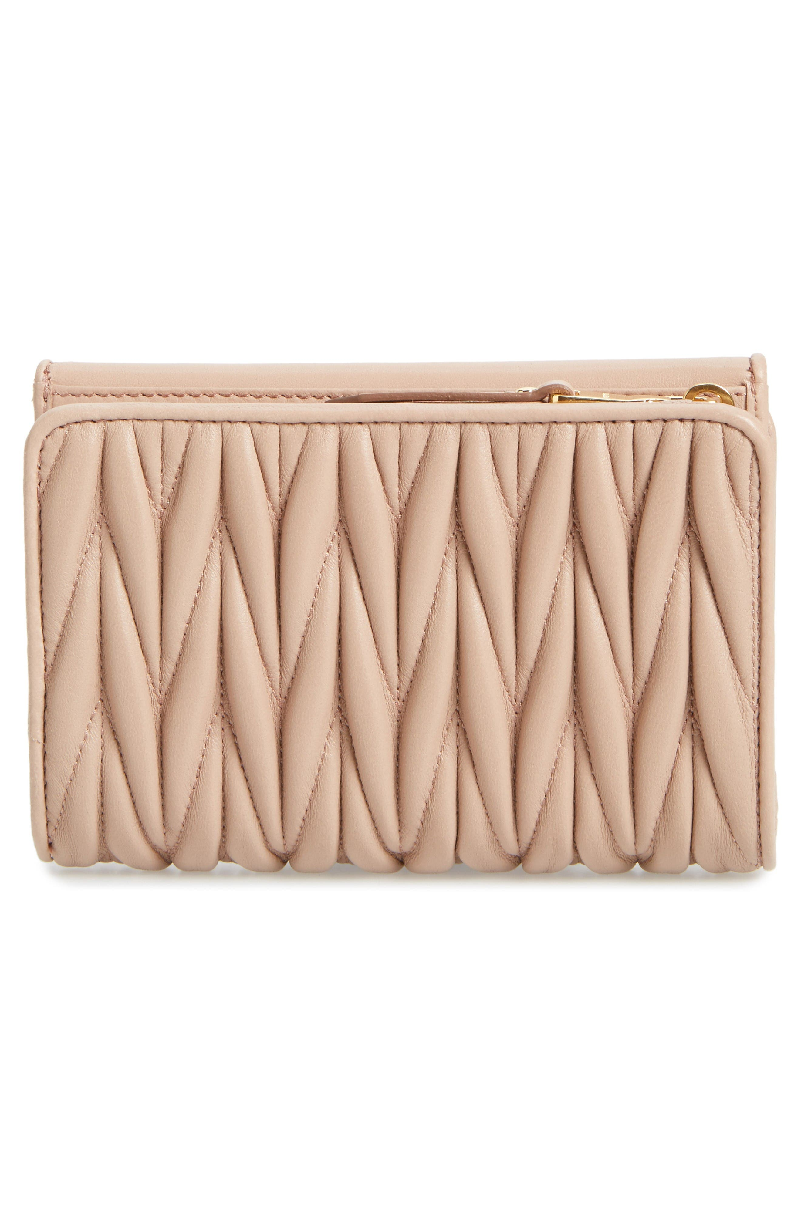 Alternate Image 3  - Miu Miu Matelassé Leather French Wallet