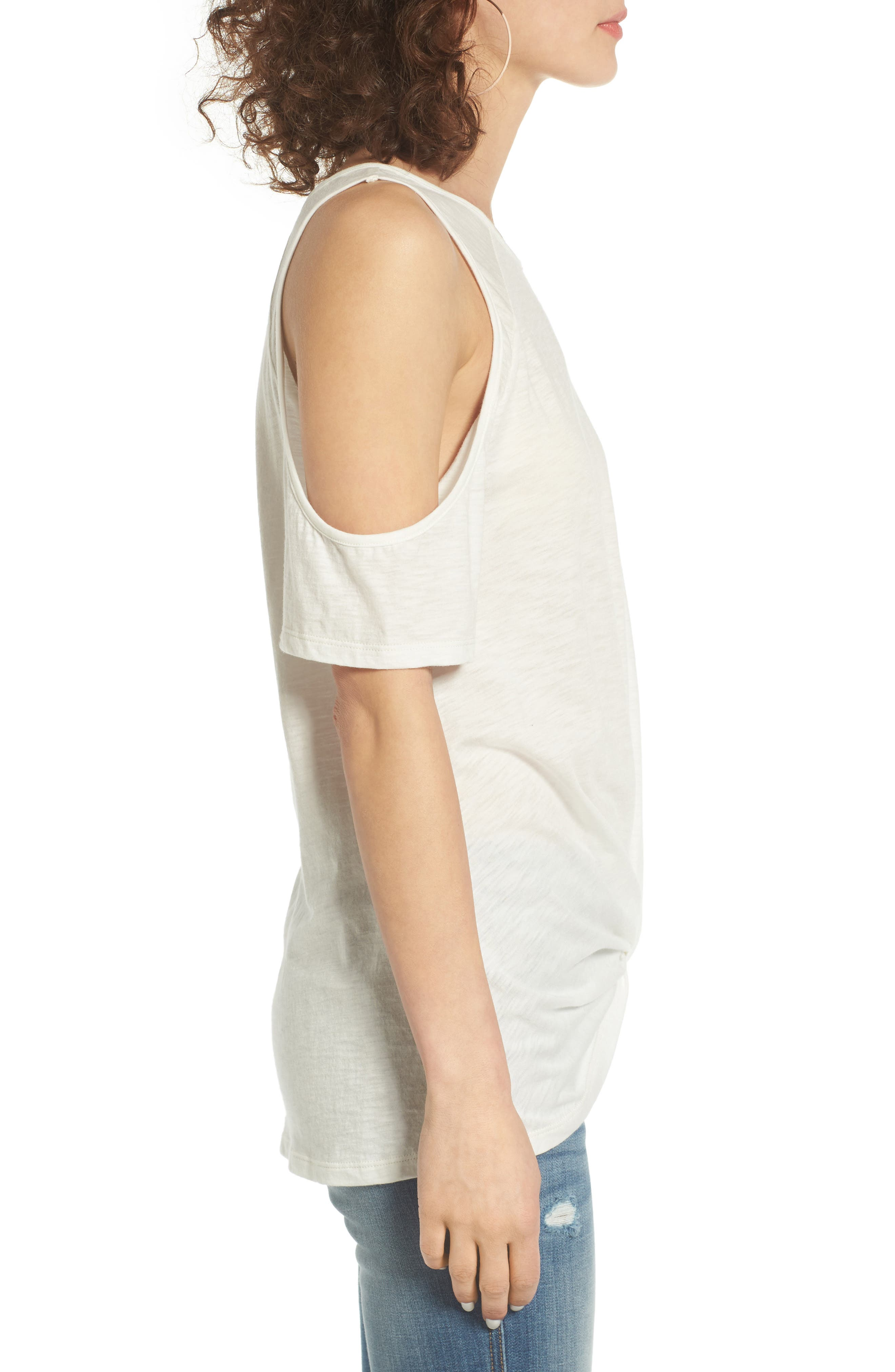 Alternate Image 3  - BP. Twist Front Cold Shoulder Tee