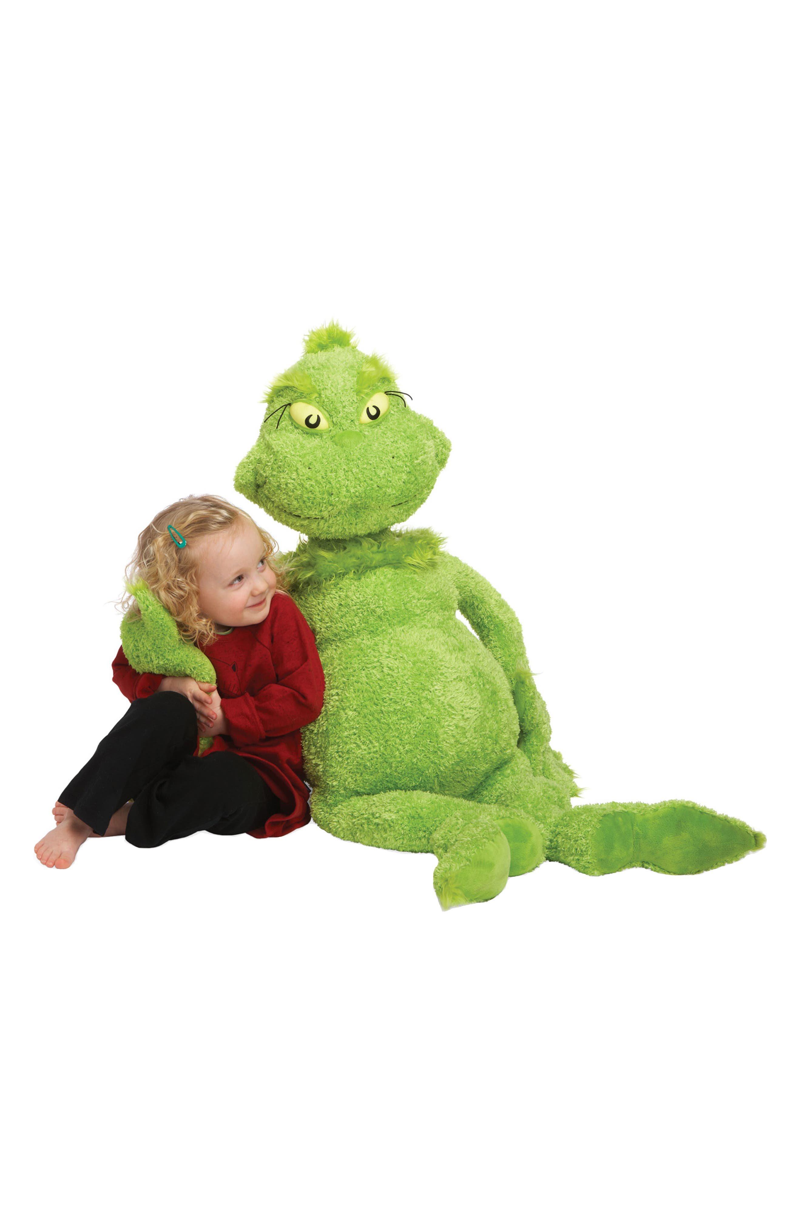 Dr. Seuss -The Grinch Stuffed Toy,                             Alternate thumbnail 3, color,                             Green