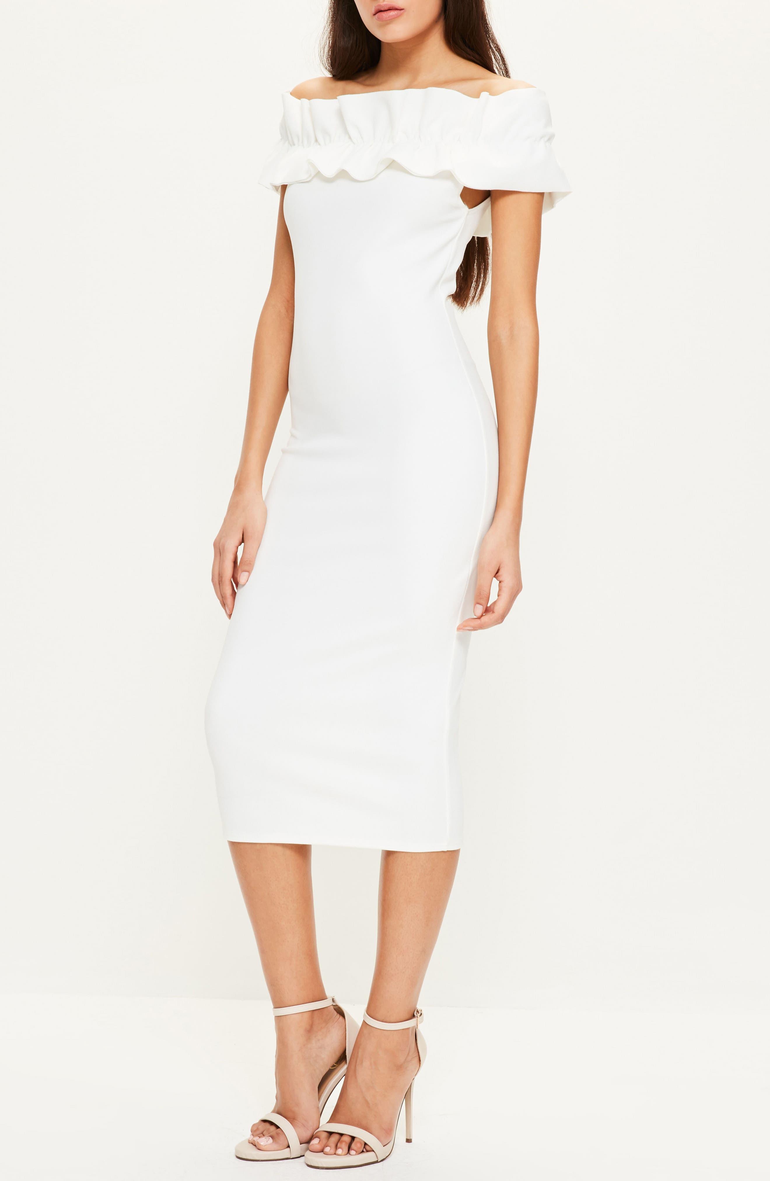 Alternate Image 2  - Missguided Bardot Off the Shoulder Dress