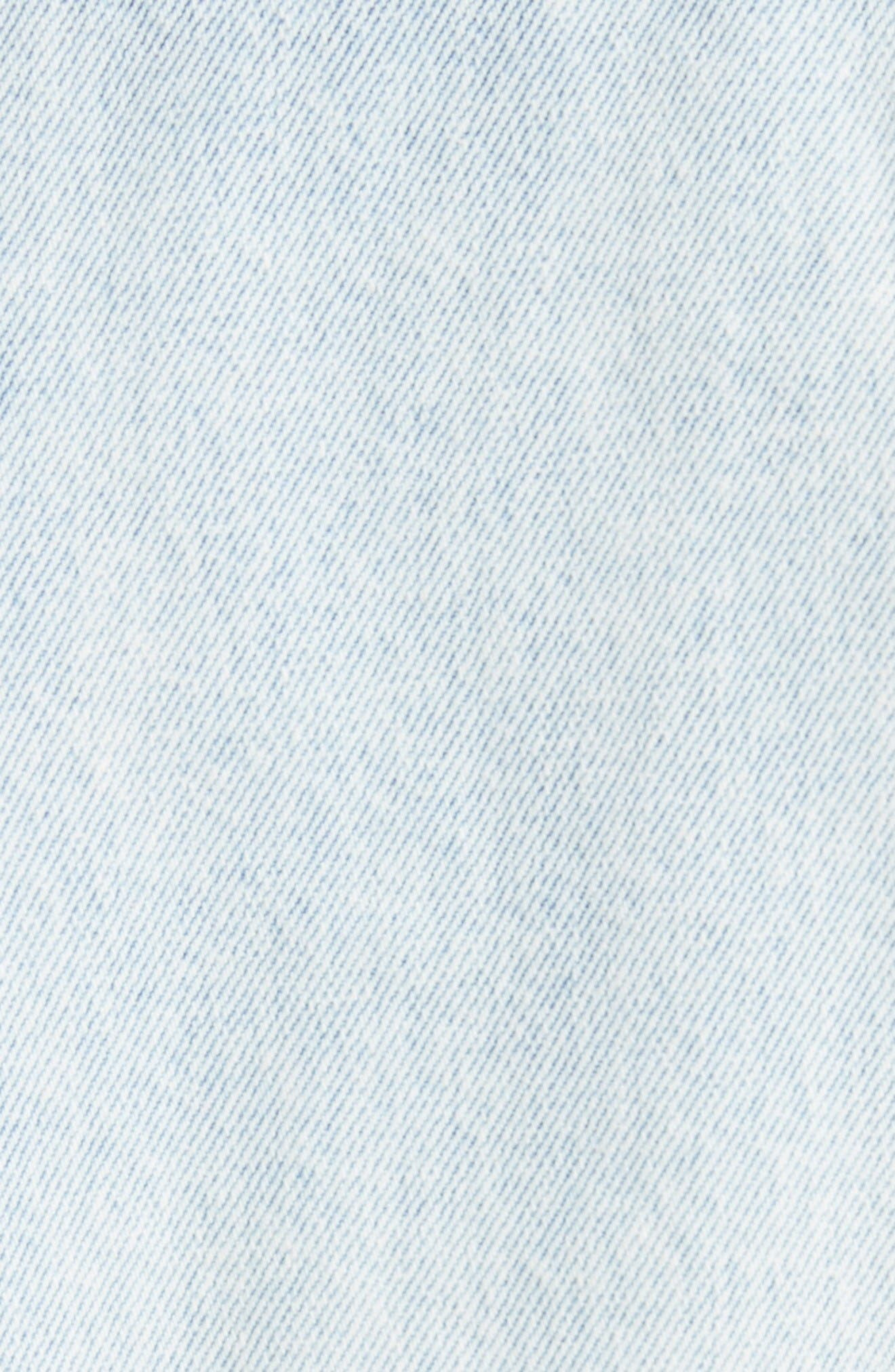 Zipper Detail Denim Jacket,                             Alternate thumbnail 5, color,                             Indigo