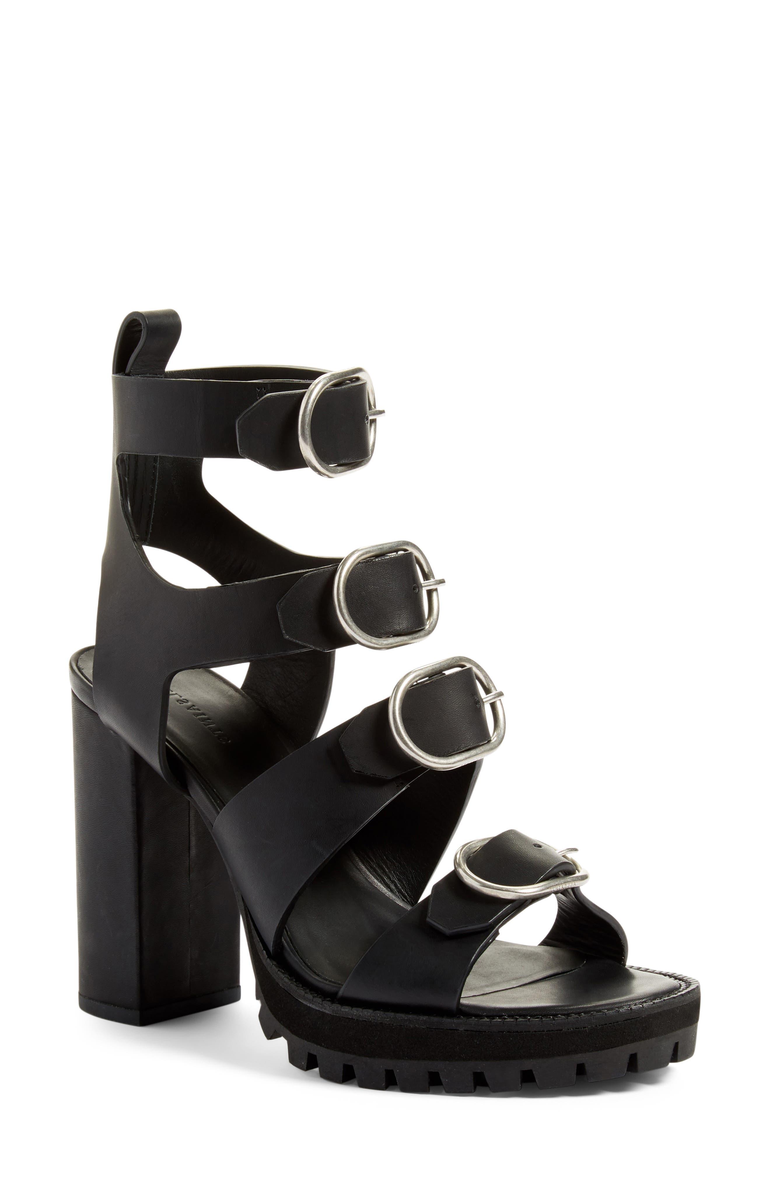 Alternate Image 1 Selected - ALLSAINTS Osuna Block Heel Sandal (Women)