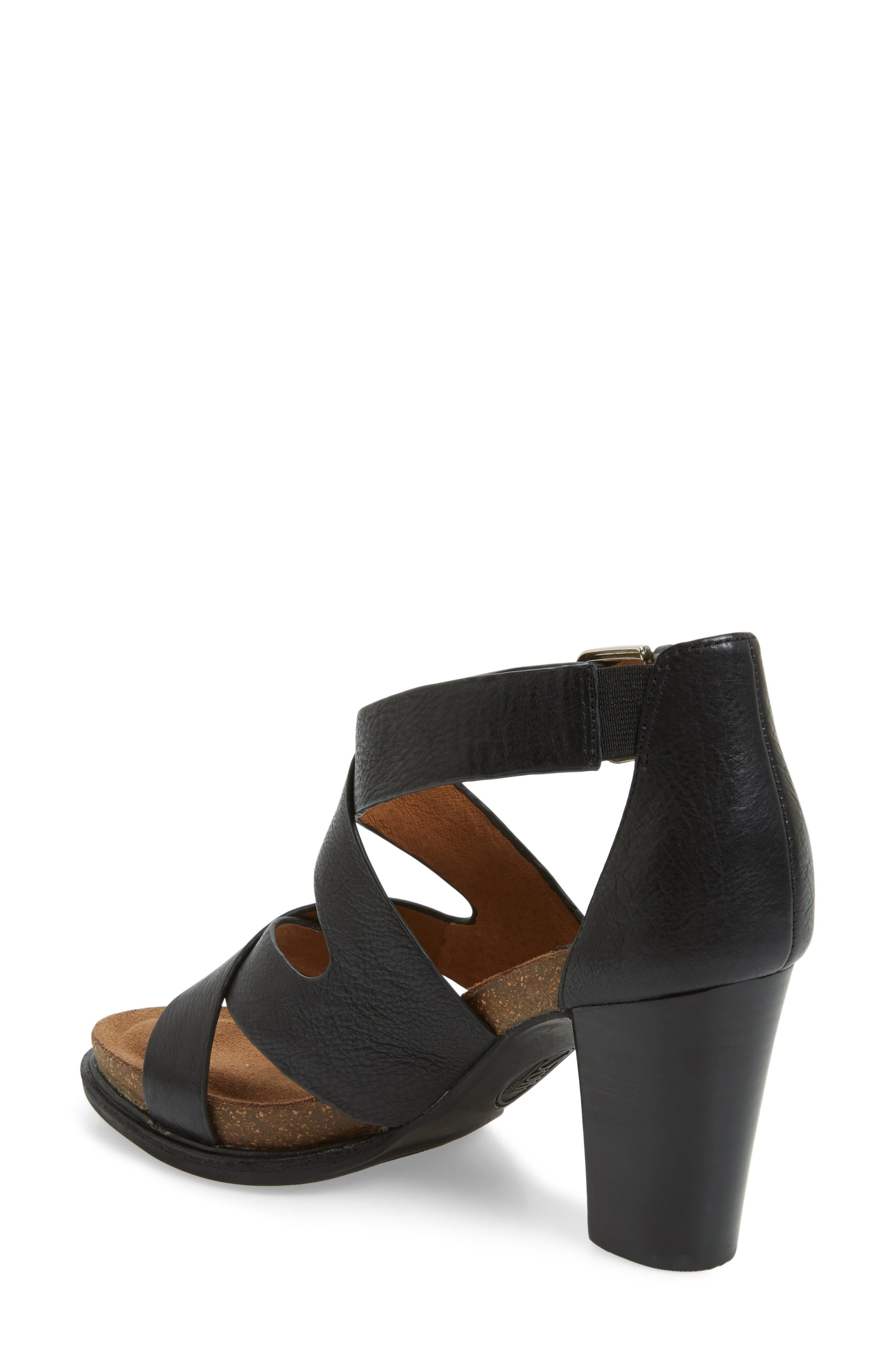 Canita Block Heel Sandal,                             Alternate thumbnail 2, color,                             Black Leather