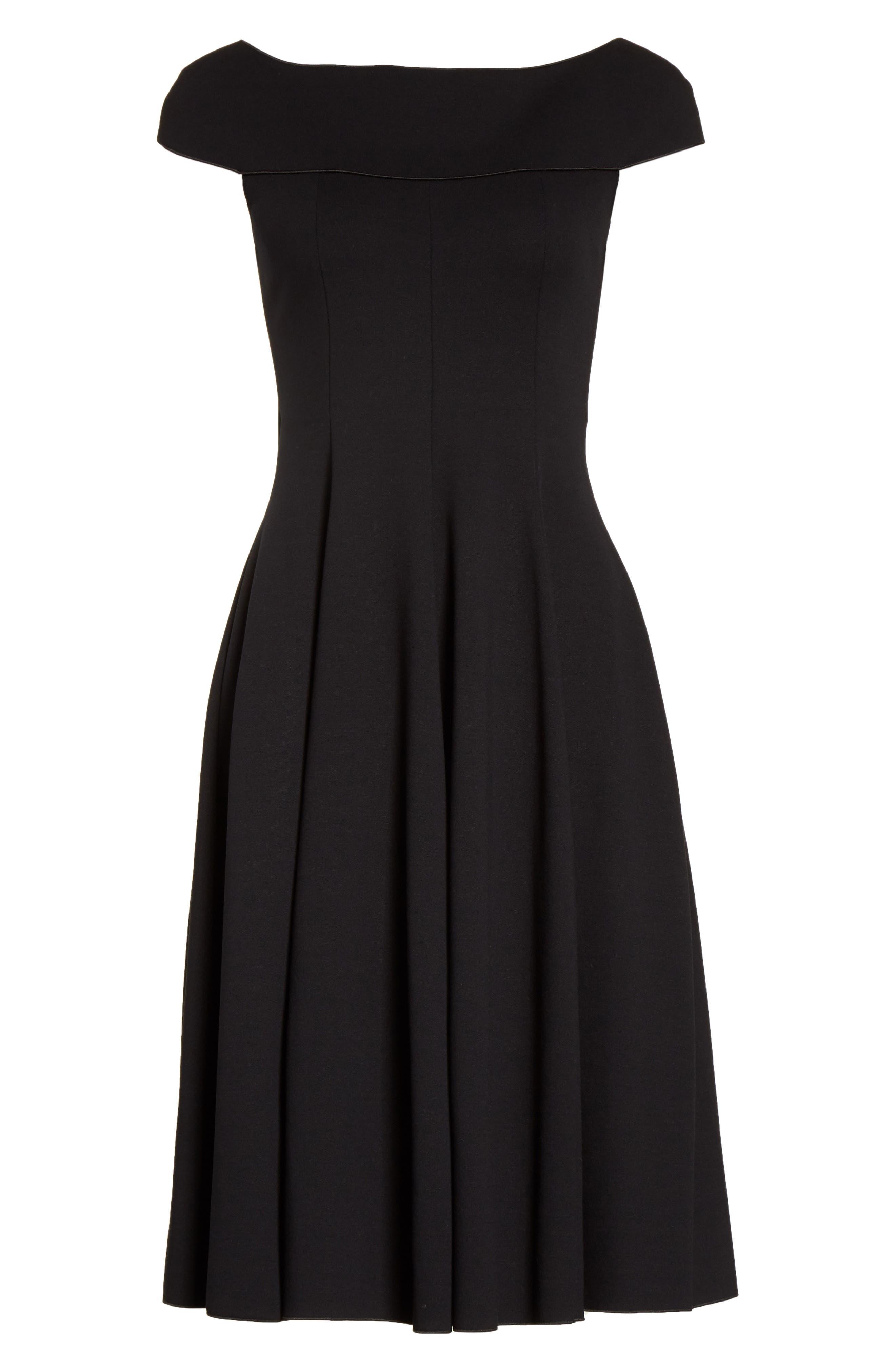 Alternate Image 4  - Armani Collezioni Off the Shoulder Fit & Flare Dress
