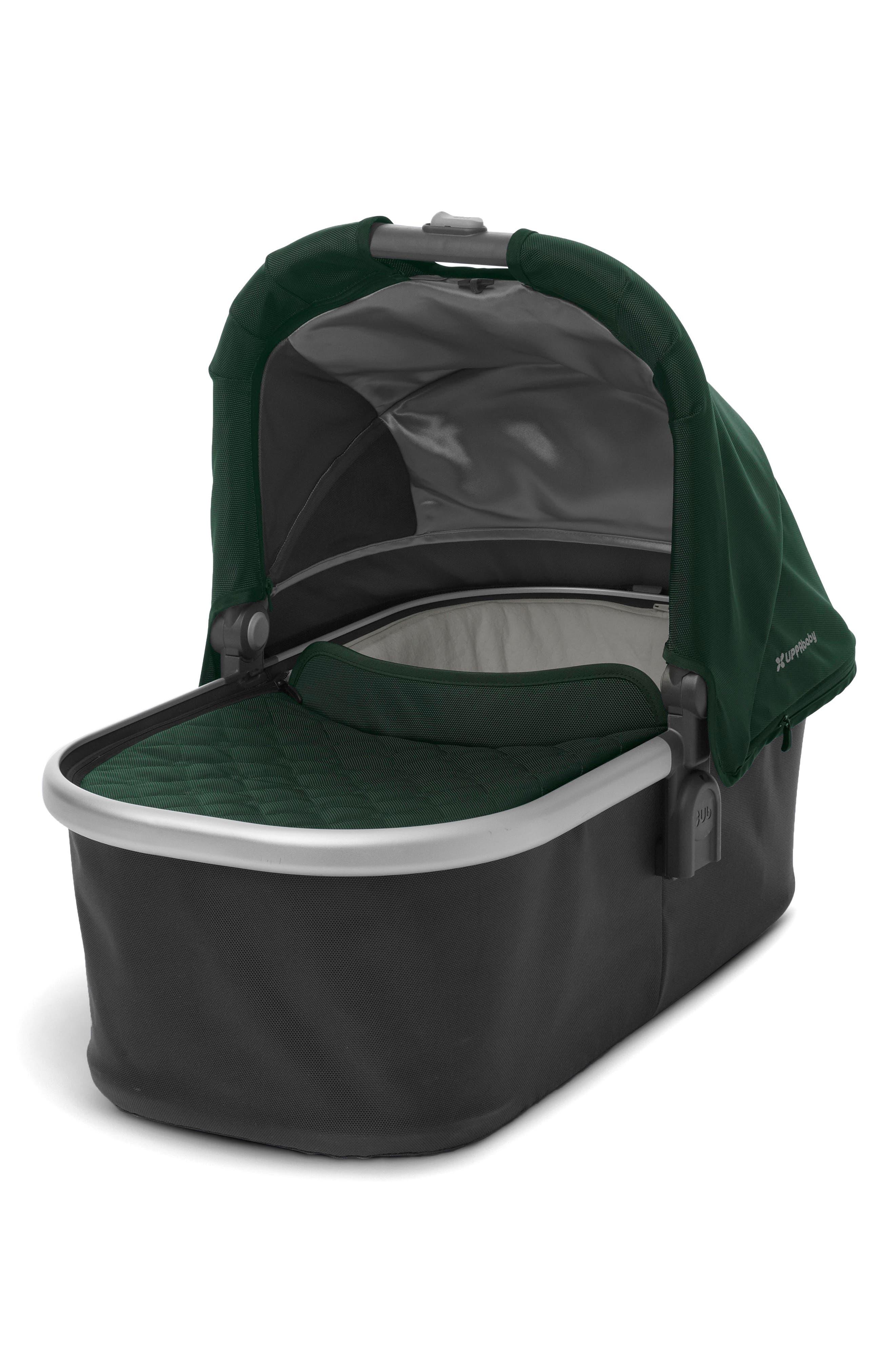 Bassinet for CRUZ or VISTA Strollers,                         Main,                         color, Hunter/ Silver