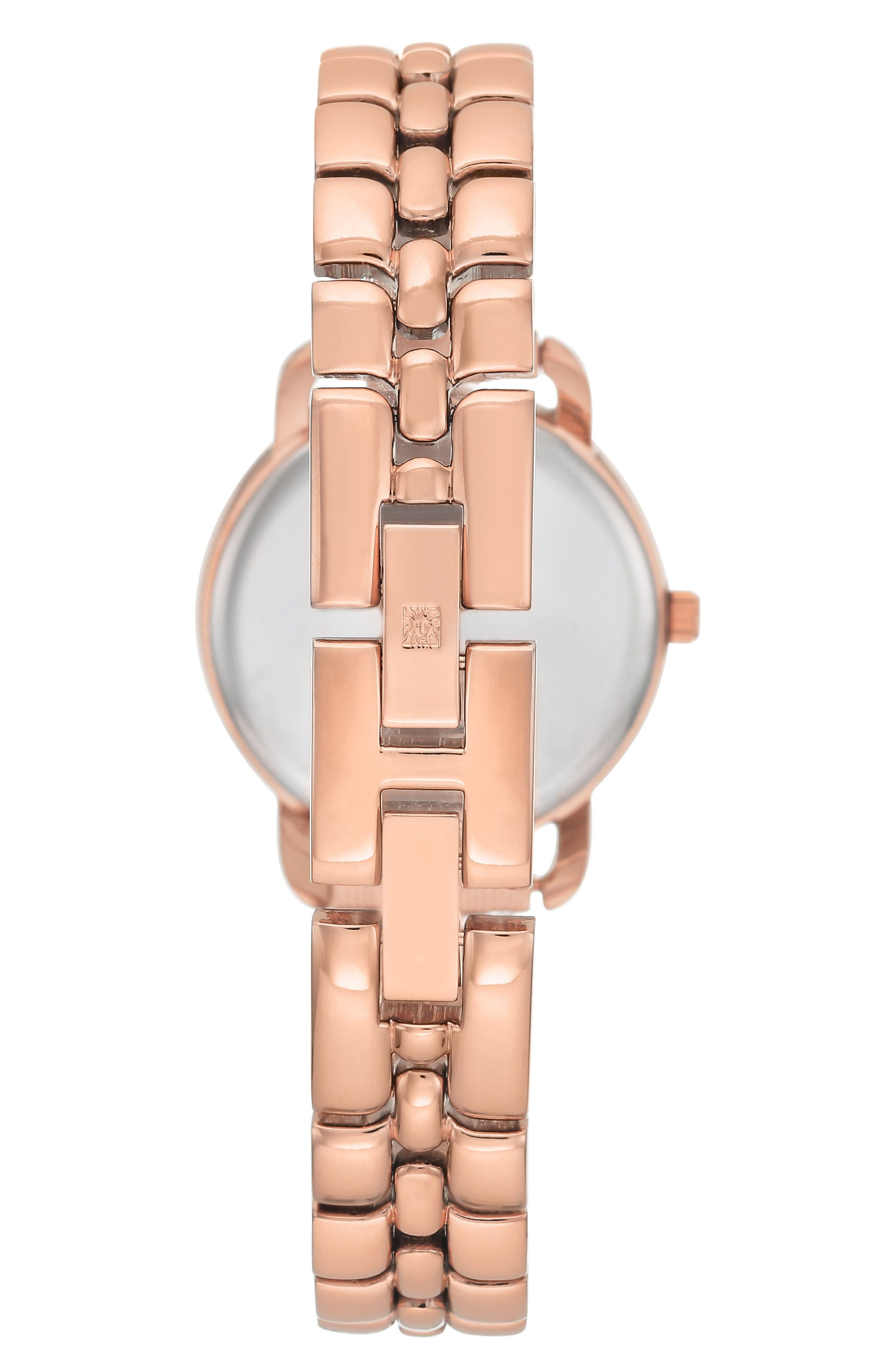 Alternate Image 2  - Anne Klein Diamond Bracelet Watch, 30mm