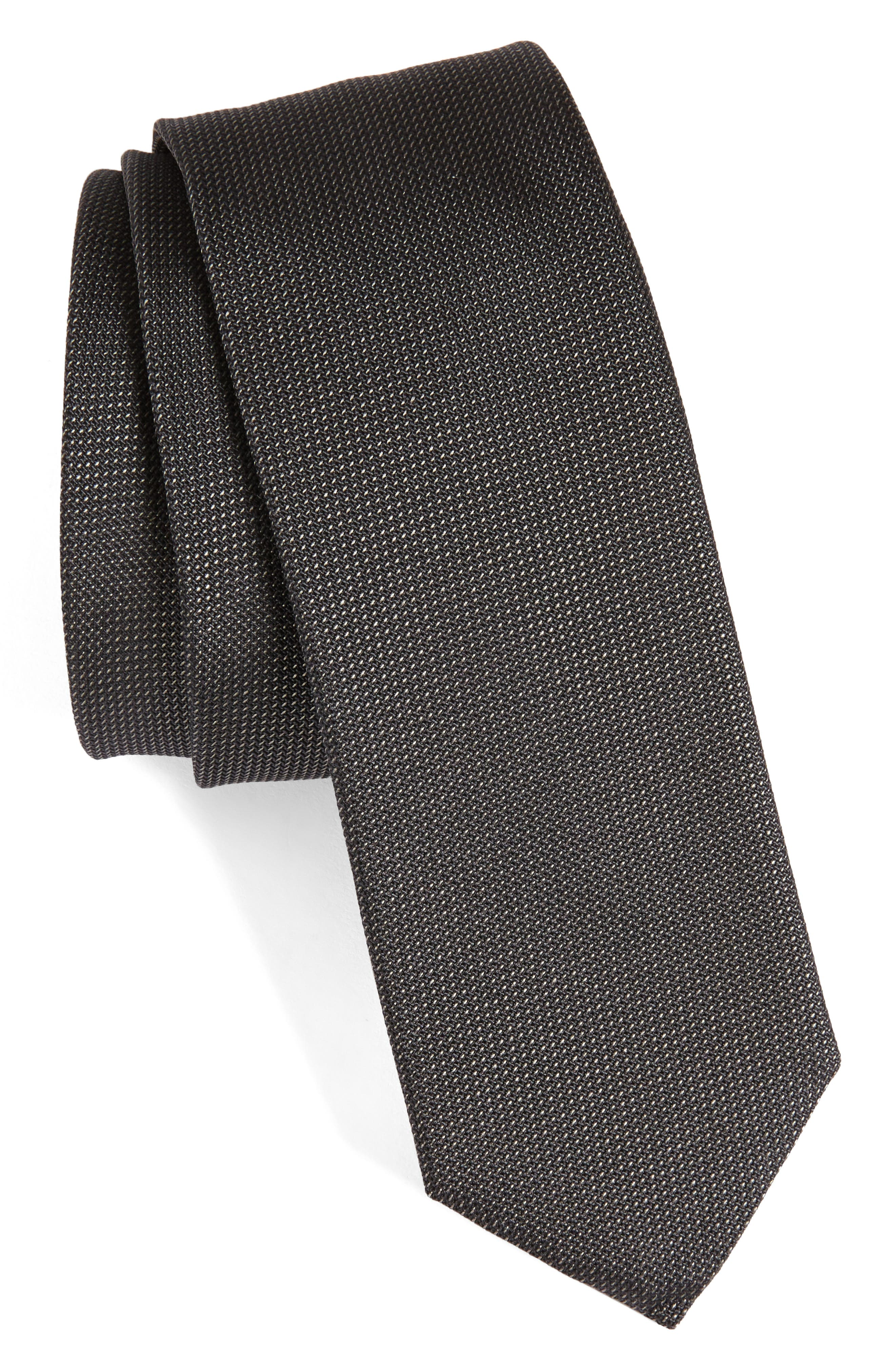 Alternate Image 1 Selected - BOSS Solid Silk Tie