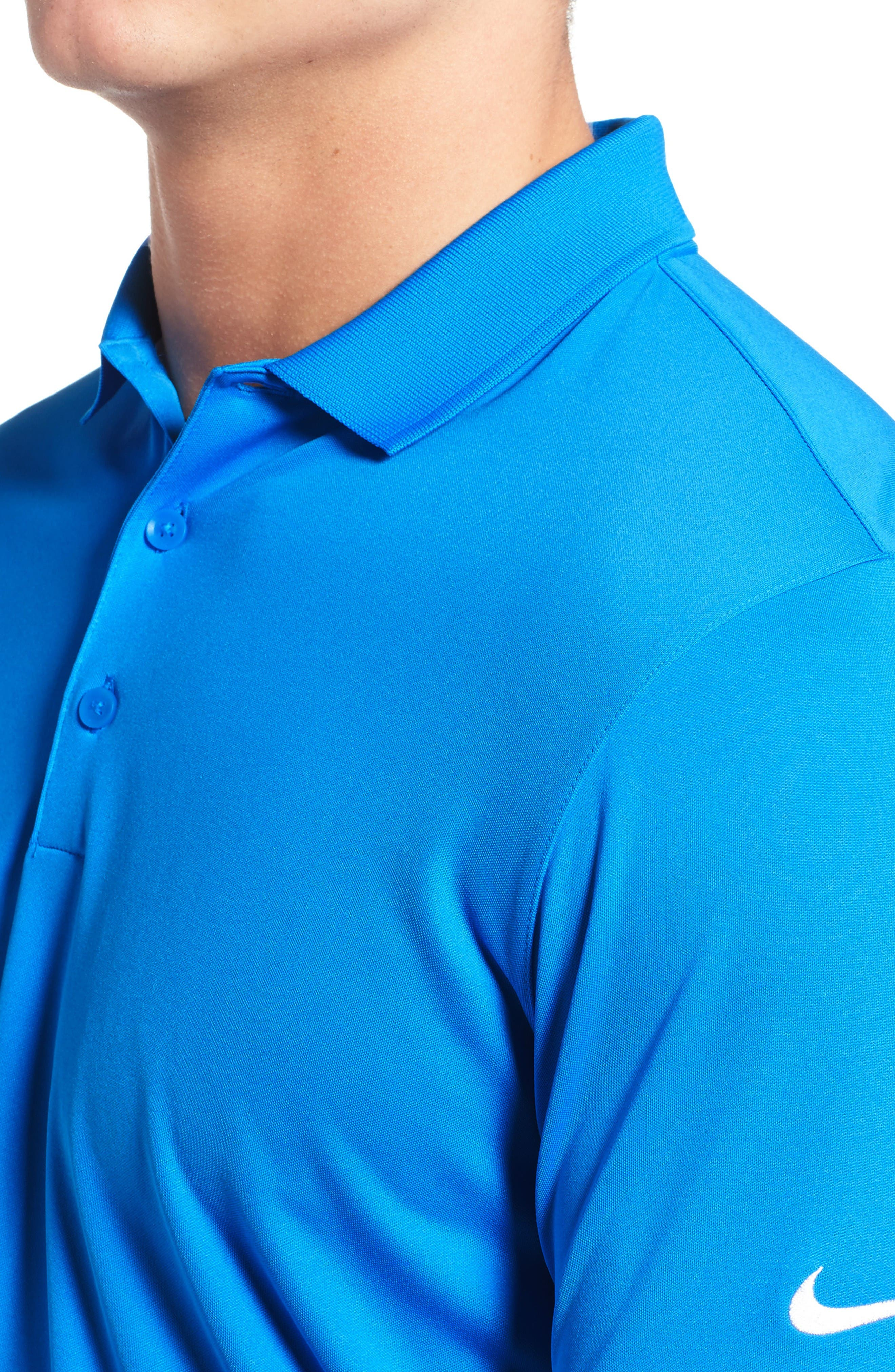 'Victory Dri-FIT Golf Polo,                             Alternate thumbnail 4, color,                             Photo Blue/ White