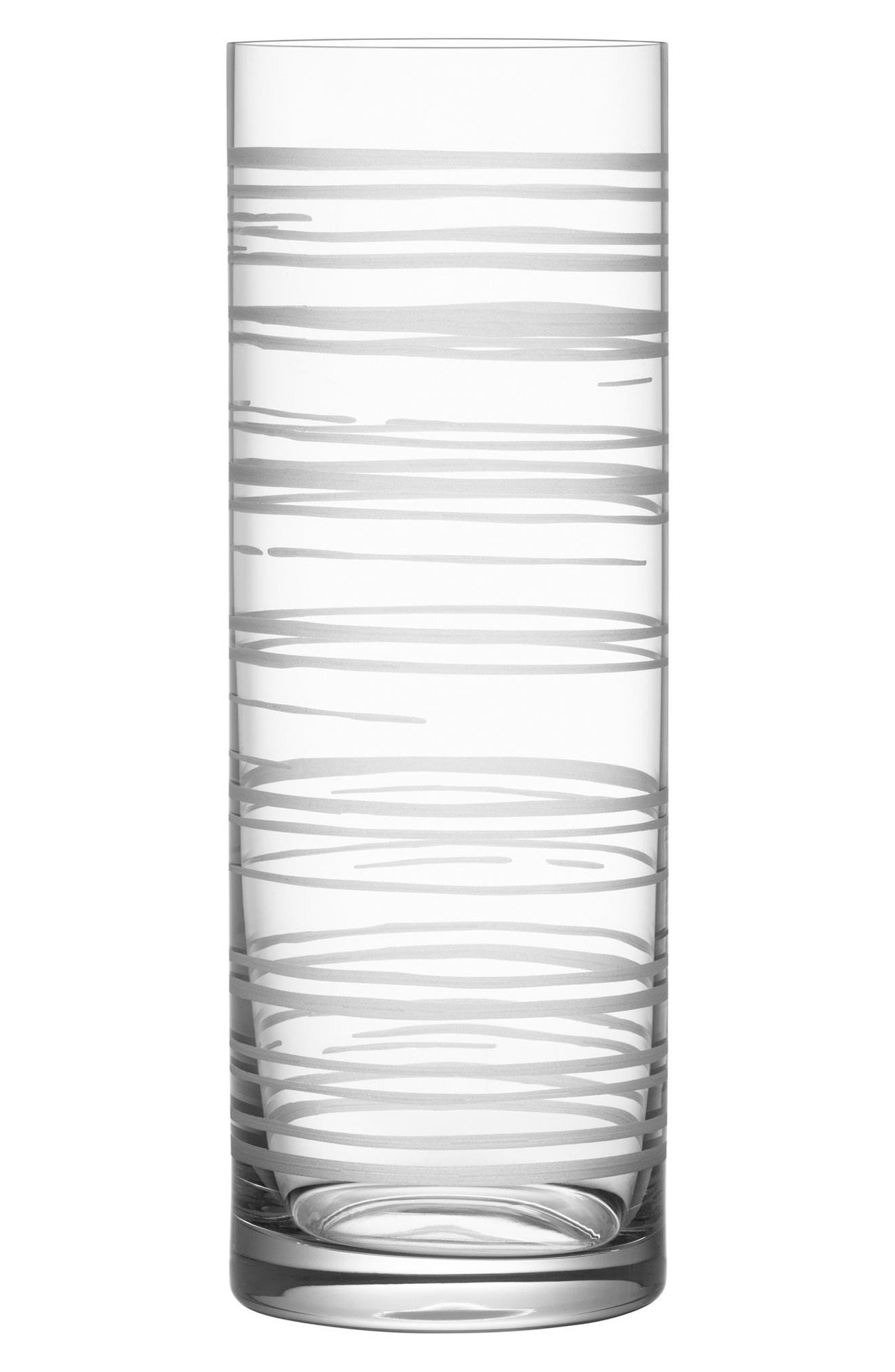Graphic Cylinder Vase,                             Main thumbnail 1, color,                             Clear